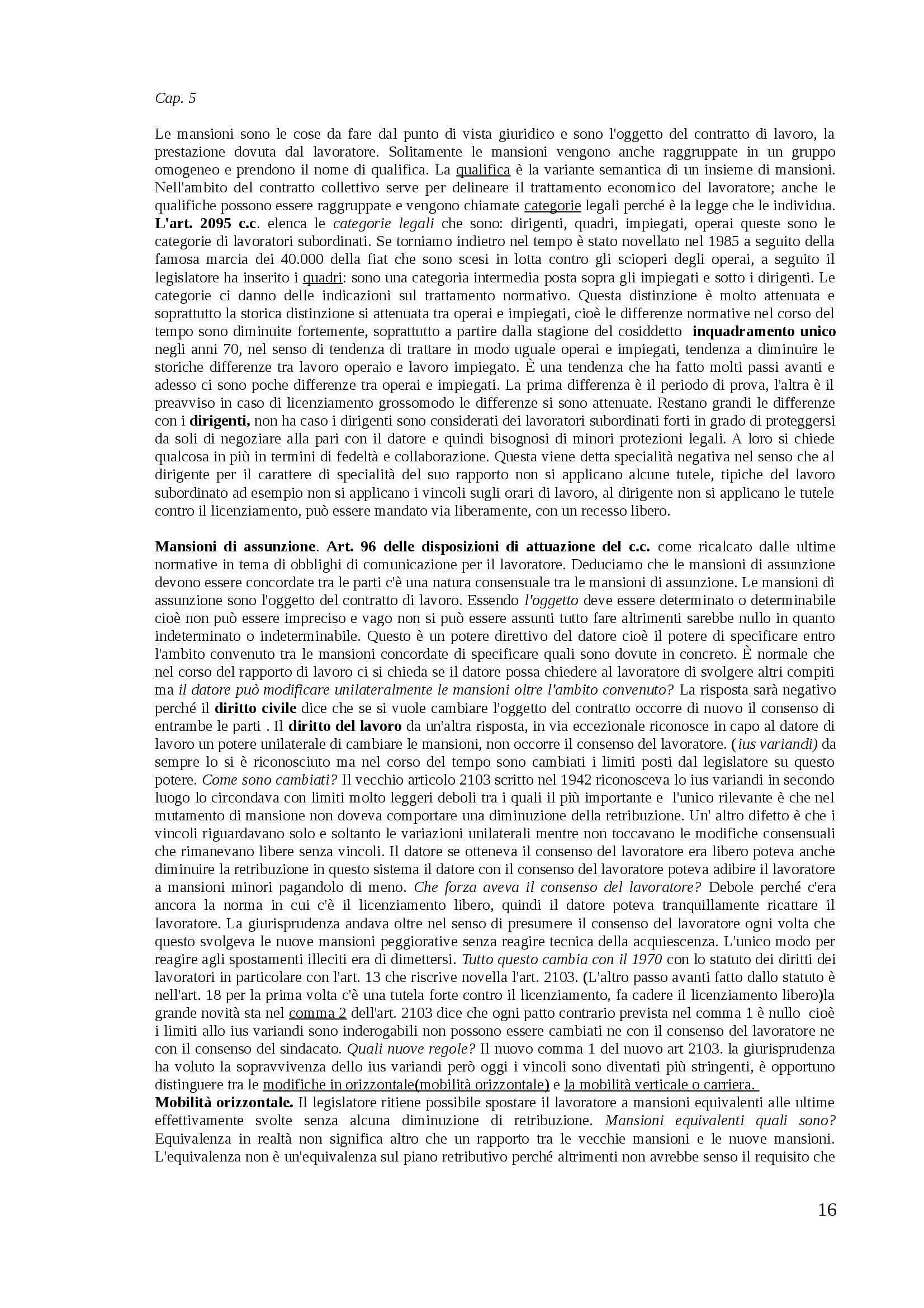 Diritto del lavoro - Appunti Pag. 16