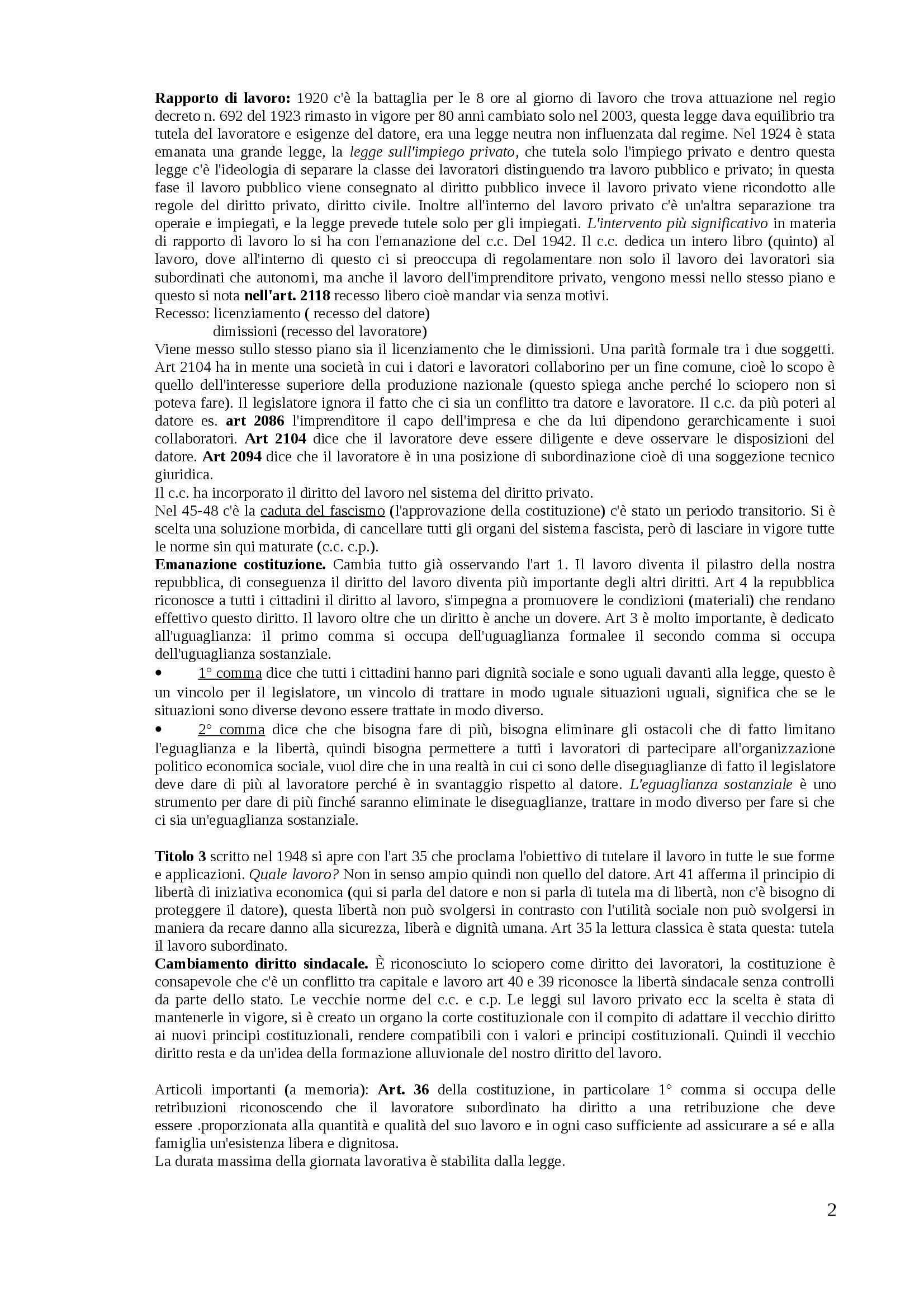 Diritto del lavoro - Appunti Pag. 2