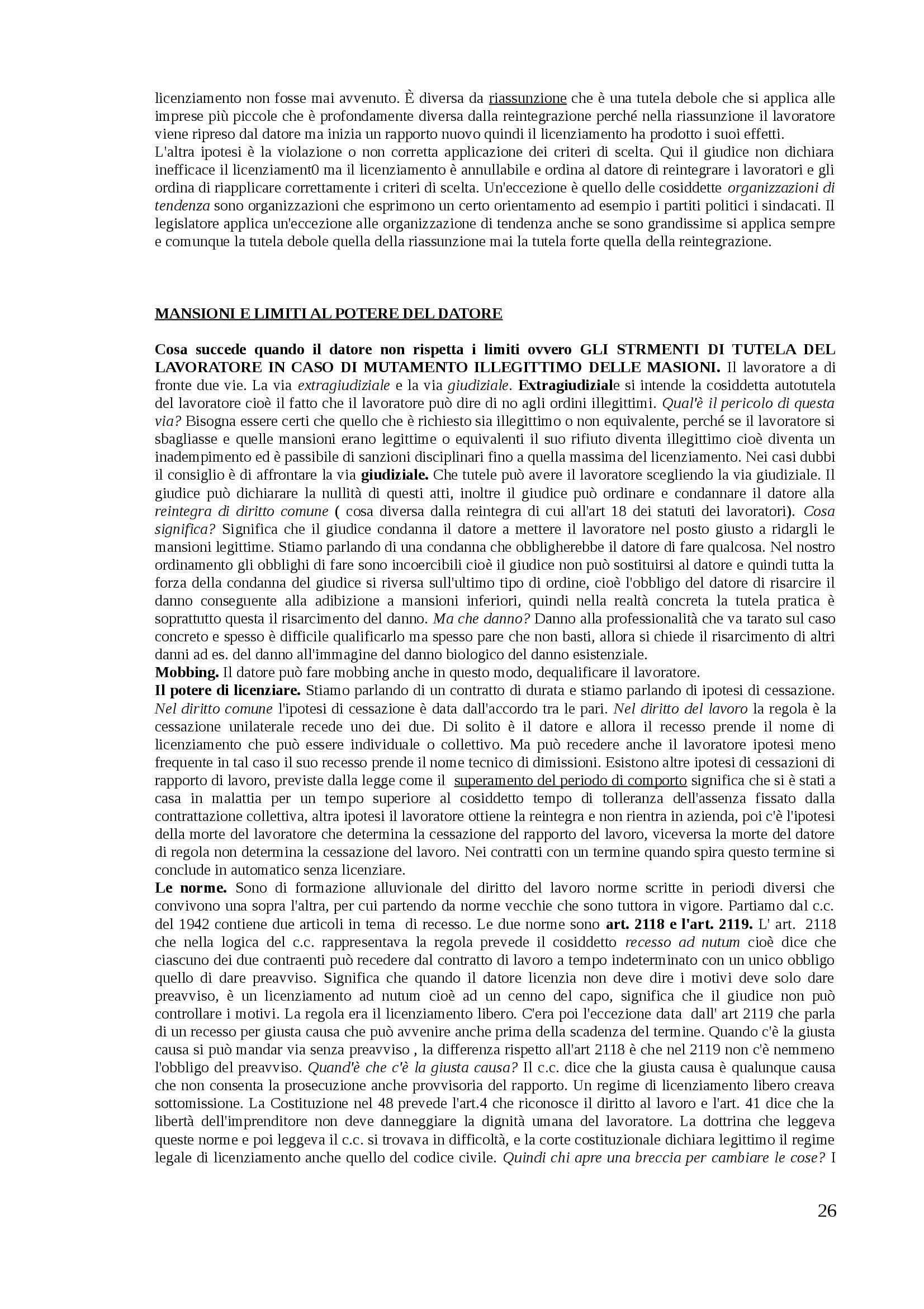 Diritto del lavoro - Appunti Pag. 26