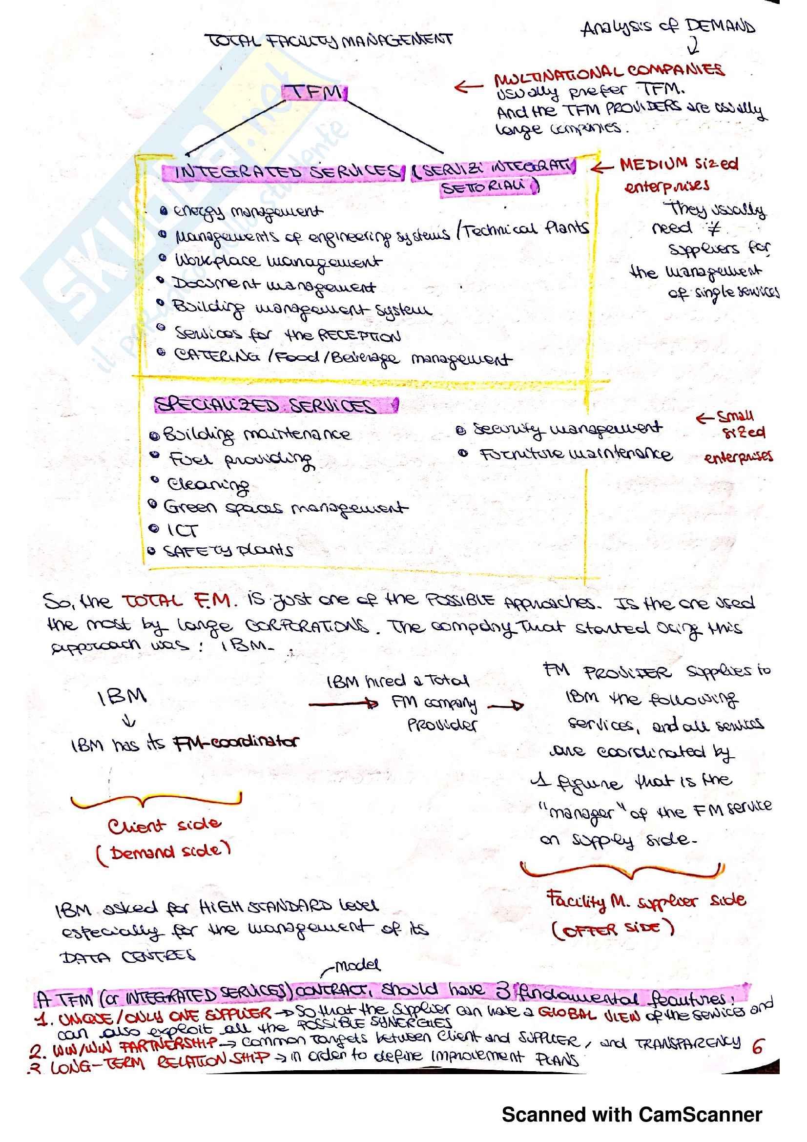 Appunti completi del corso Facility Management Pag. 6