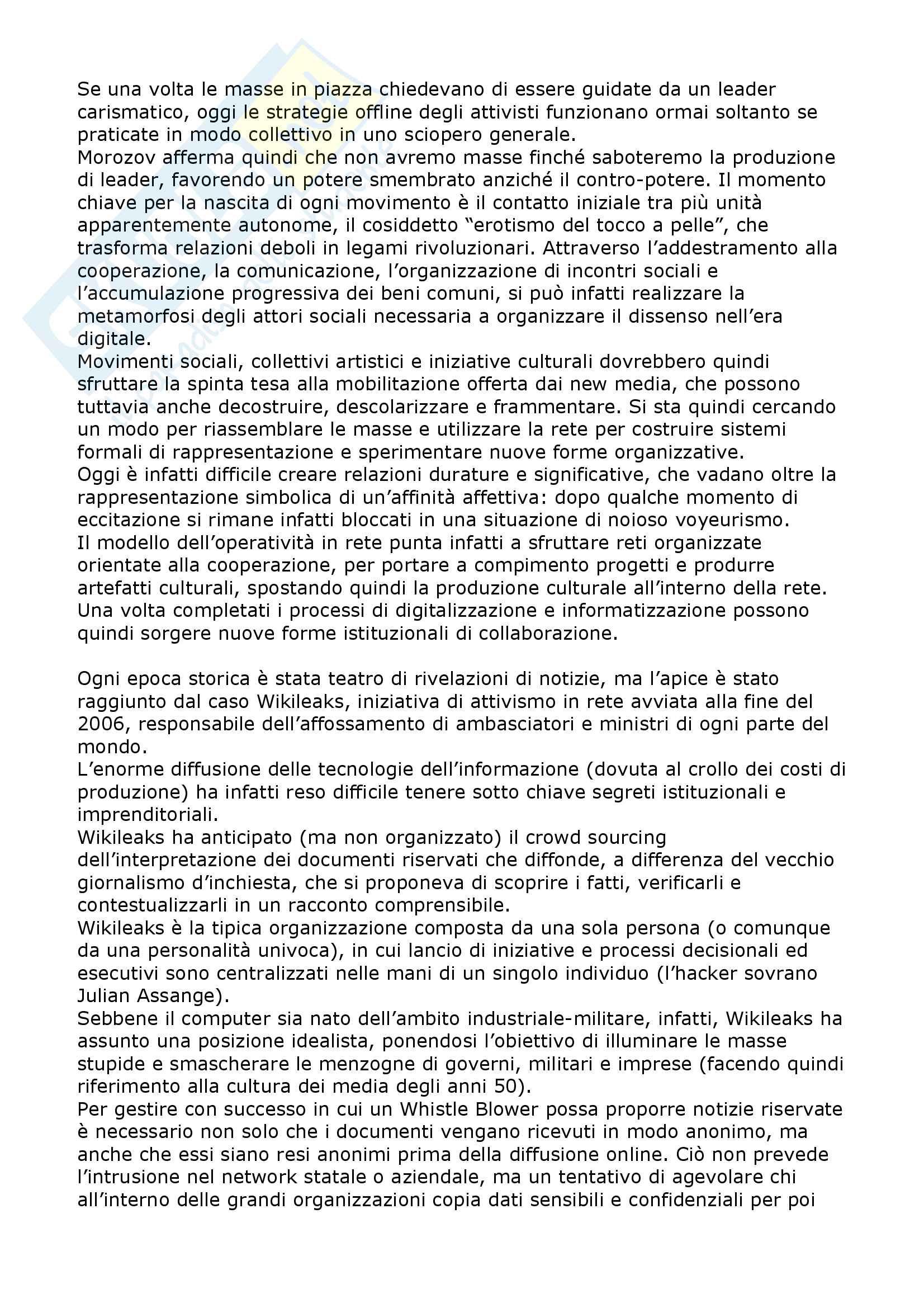 Riassunto esame Sociologia dei new media e internet studies, prof. Boccia Artieri, libro consigliato Ossessioni collettive, Geert, Lovink Pag. 11