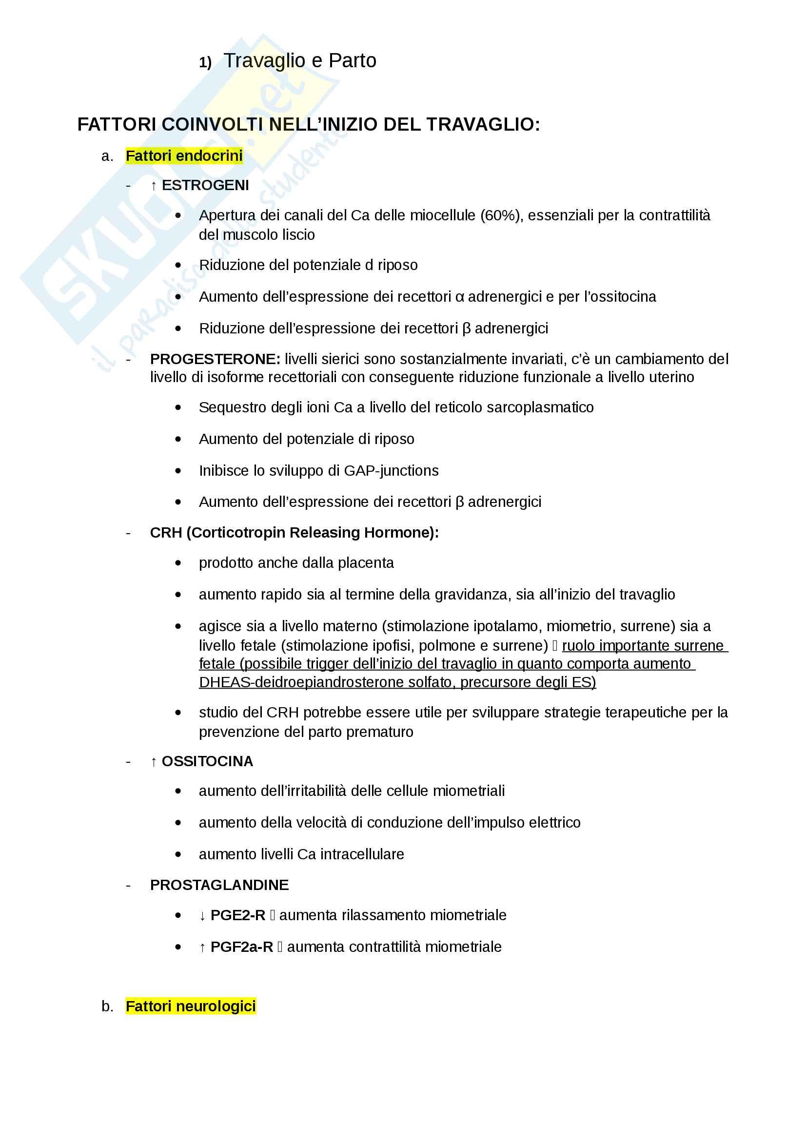 Schemi Gineco (Travaglio-Parto, Ipertensione in gravidanza, Diabete gestazionale, Screening HPV)