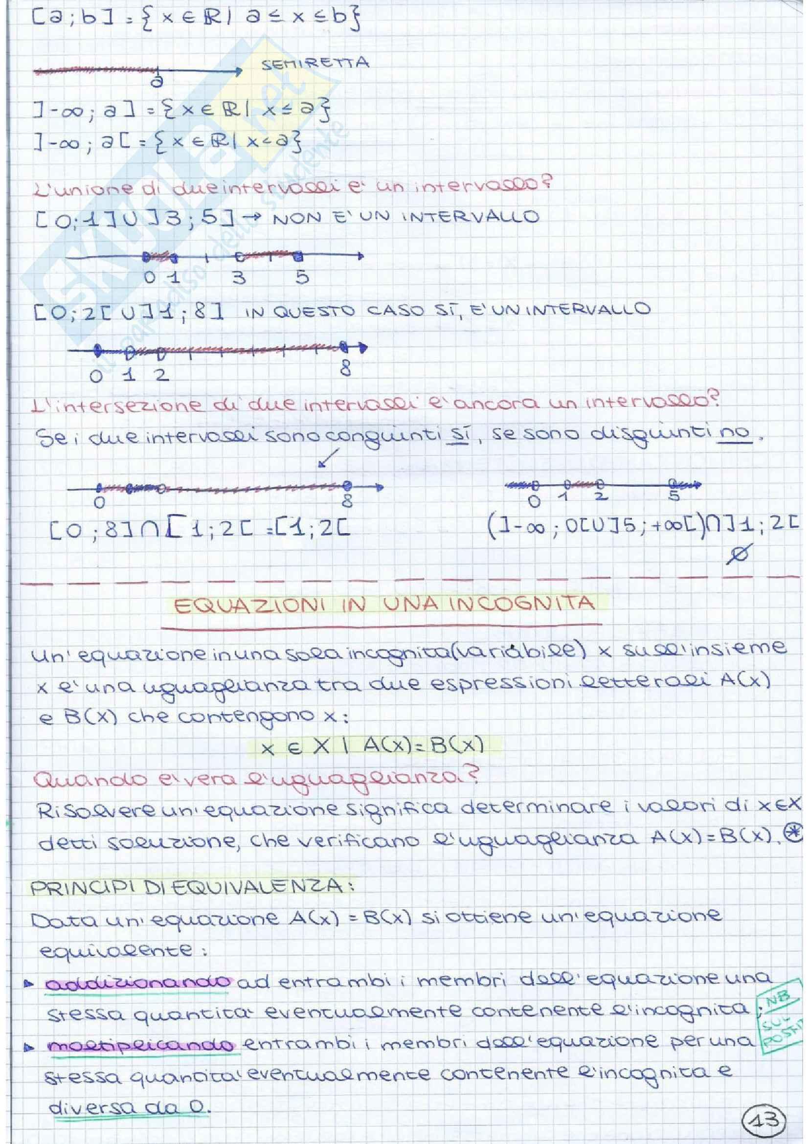 Metodi matematici I - teoria e pratica 1° parziale Pag. 16