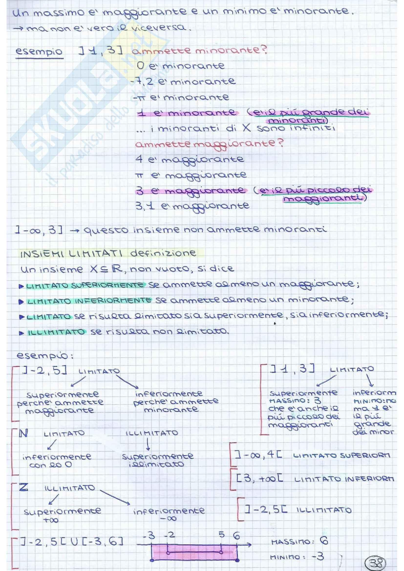 Metodi matematici I - teoria e pratica 1° parziale Pag. 36