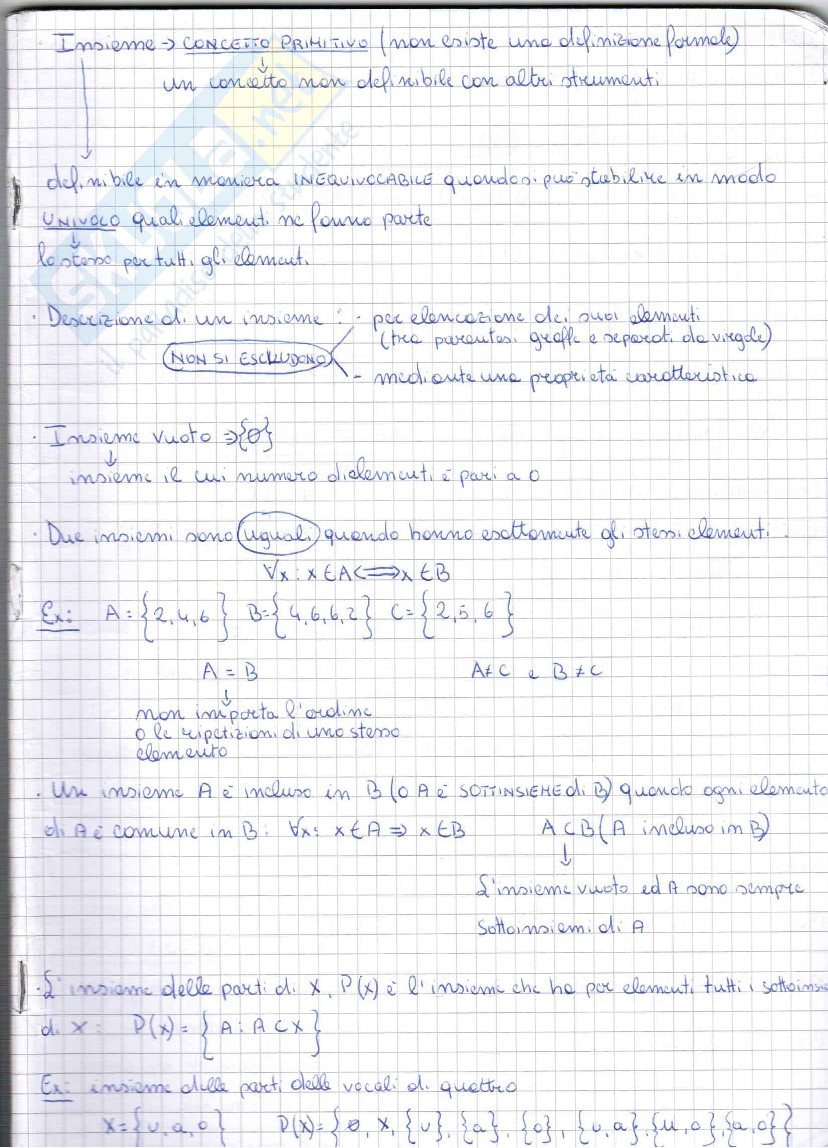 appunto C. Meo Metodi matematici