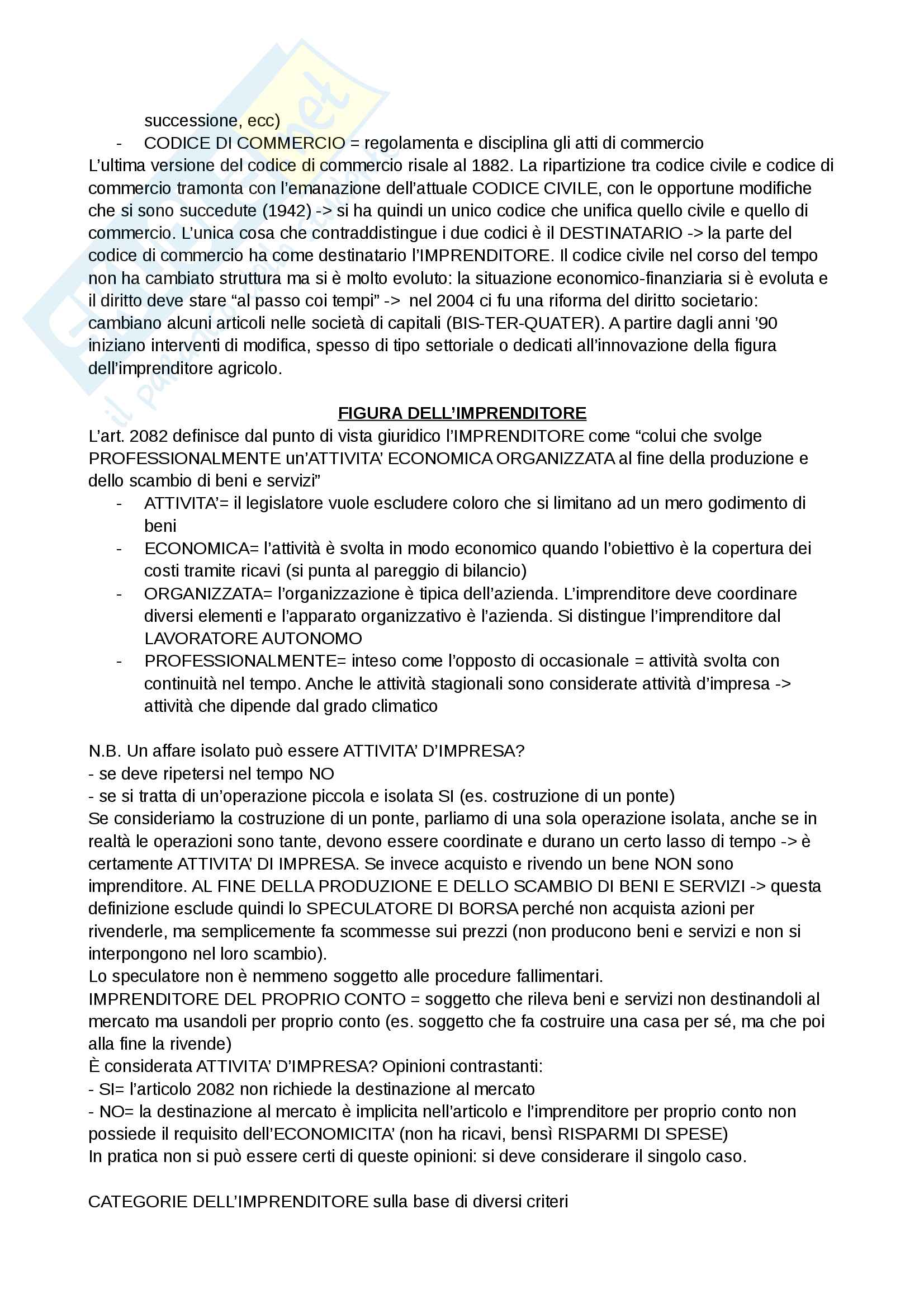 Diritto commerciale Pag. 2