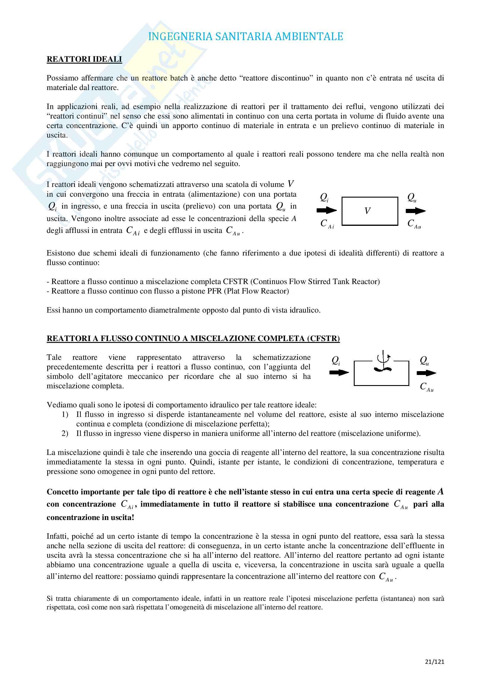 Ingegneria Sanitaria Ambientale (9 CFU) con esercitazioni Pag. 21