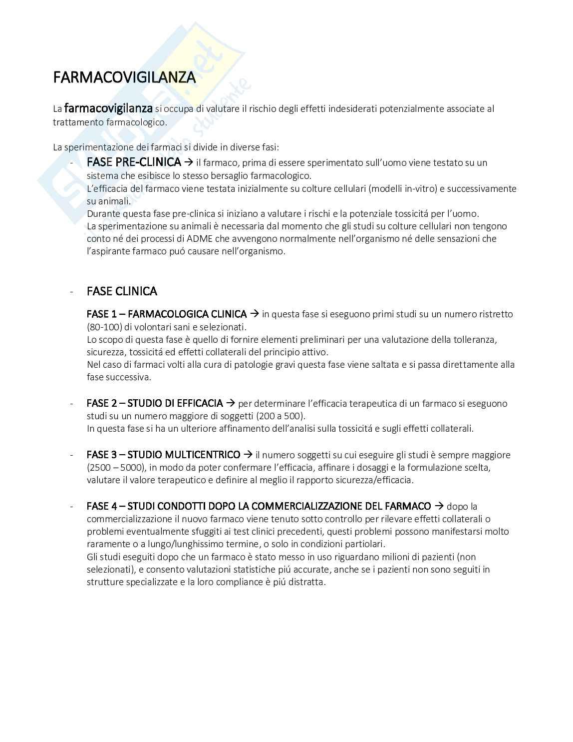 Farmacovigilanza Pag. 1