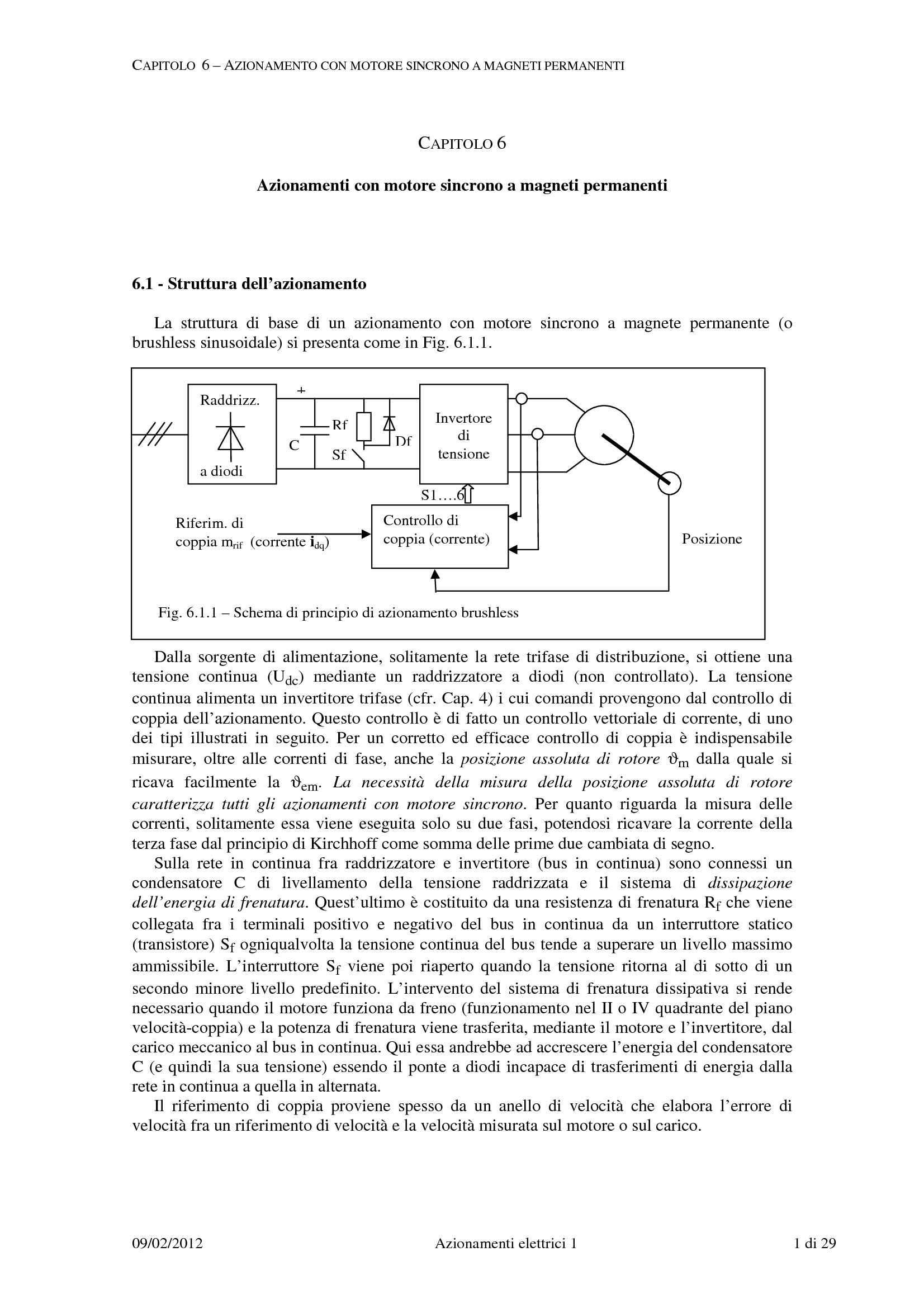 Azionamenti con motore sincrono a magneti permanenti