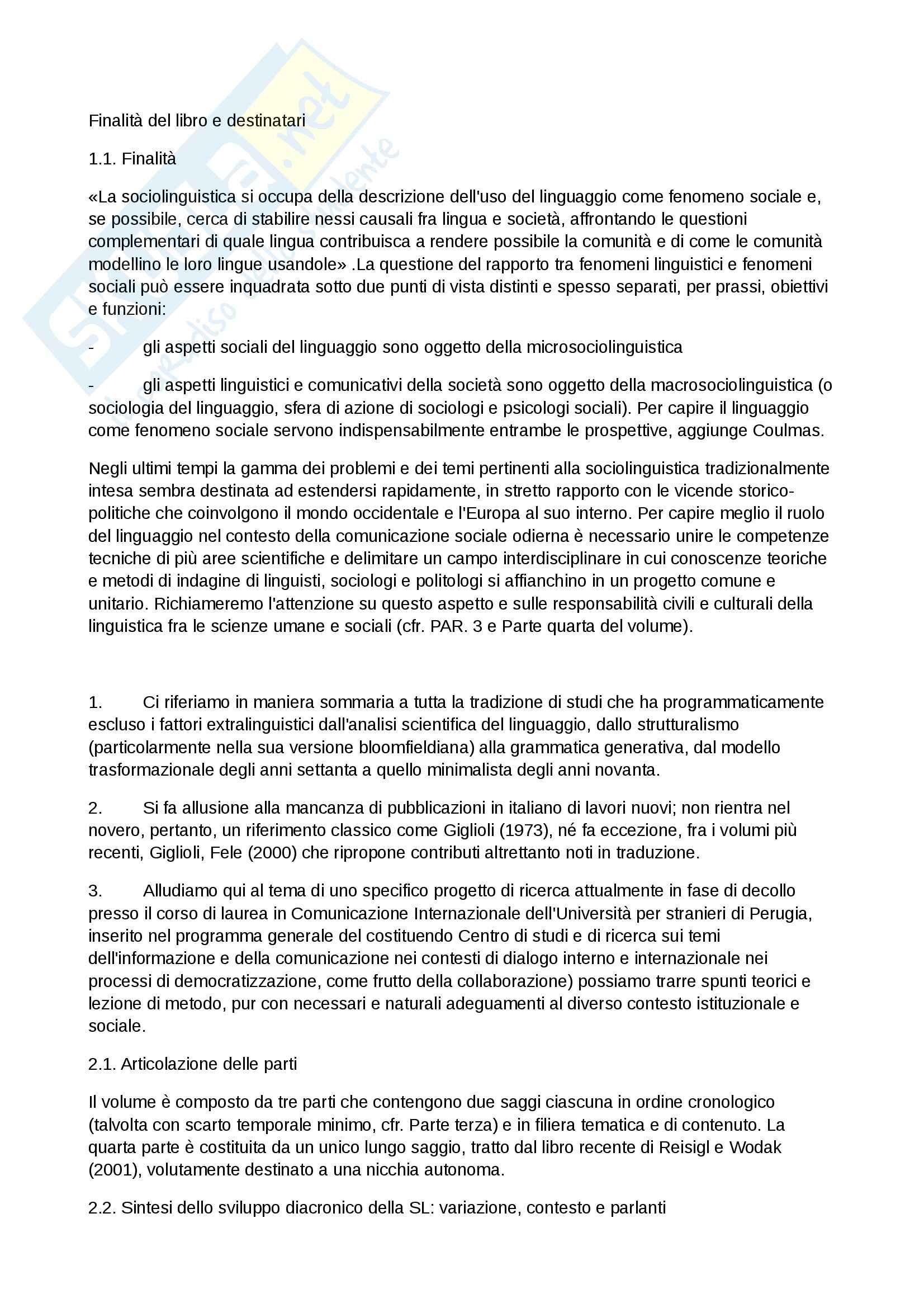 Riassunto esame Etnolinguistica, prof. Iannaccaro, libro consigliato Introduzione alla Sociolinguistica, Giannini, Scaglione