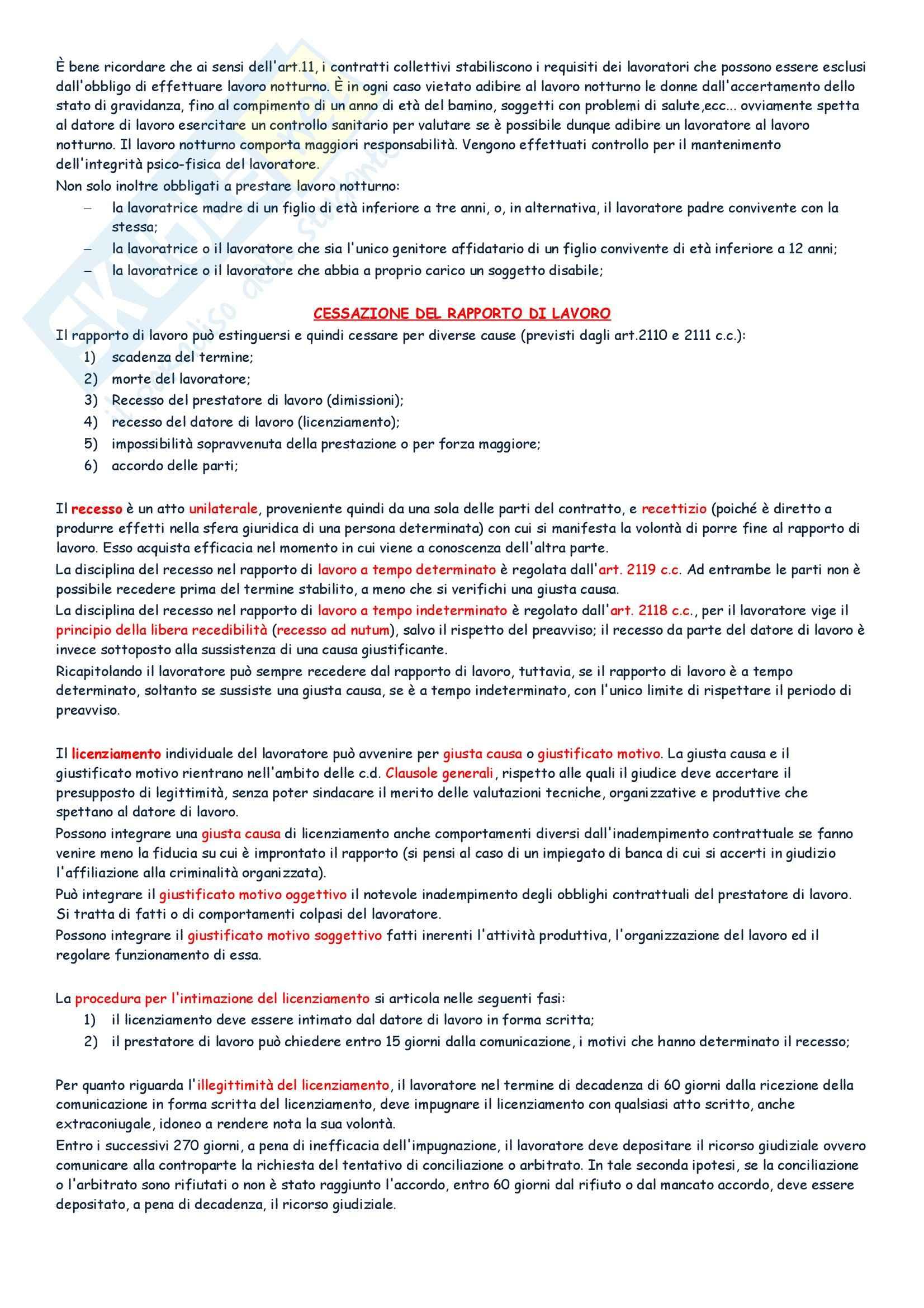 Diritto del lavoro - Appunti Pag. 21