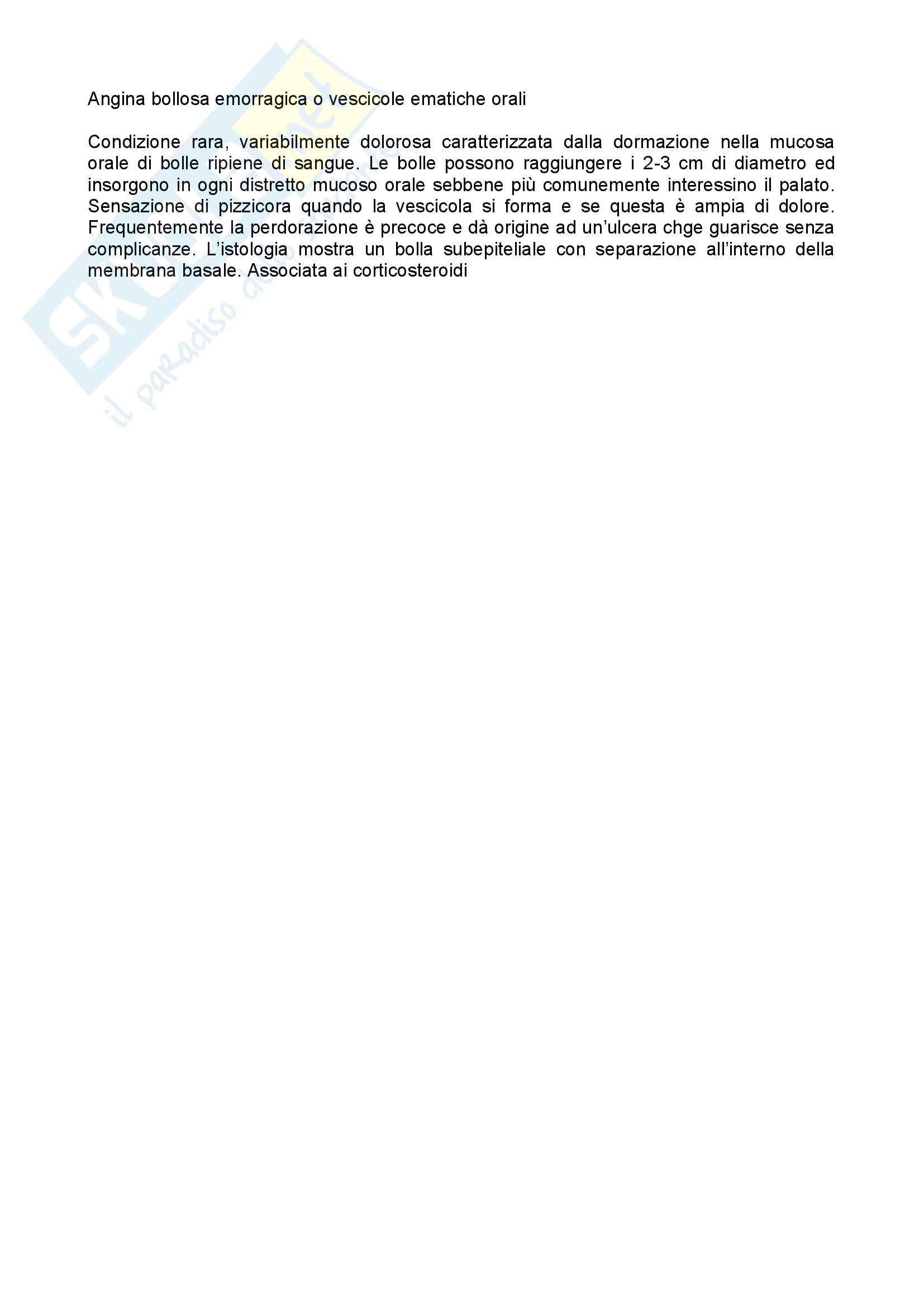 Anatomia patologica - angina bollosa emorragica