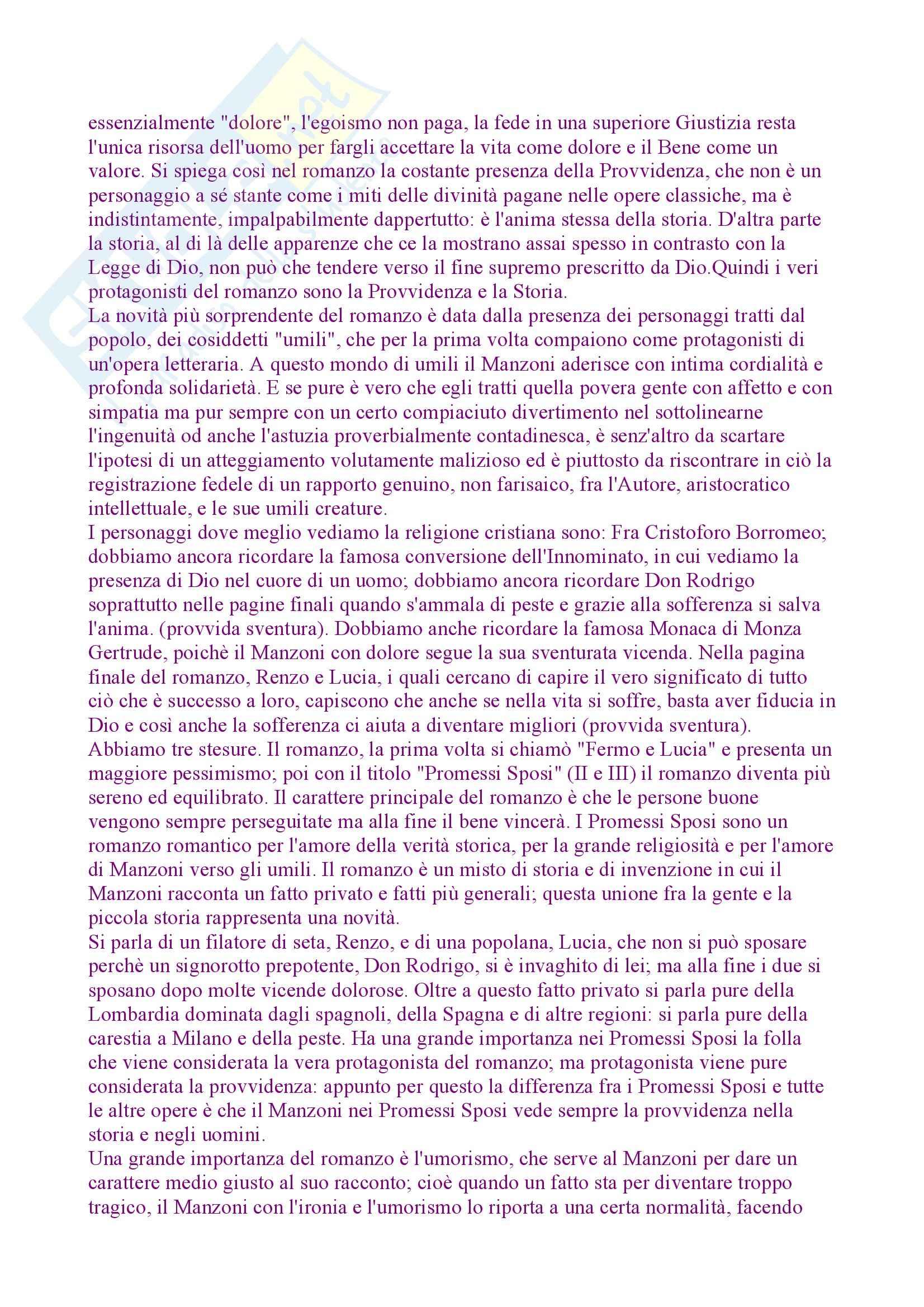 I promessi sposi, Manzoni - Riassunto Pag. 11
