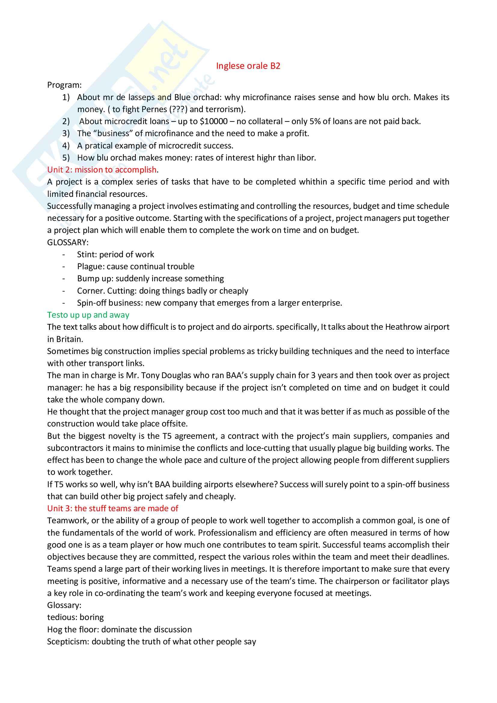 Appunti testi inglese b2 Pag. 1