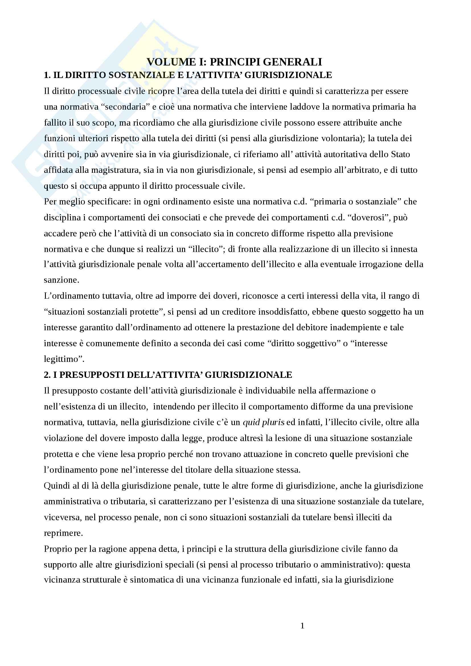 Riassunto esame di procedura civile, Prof.Tedoldi, libro consigliato Diritto processuale civile, dell'autore Luiso
