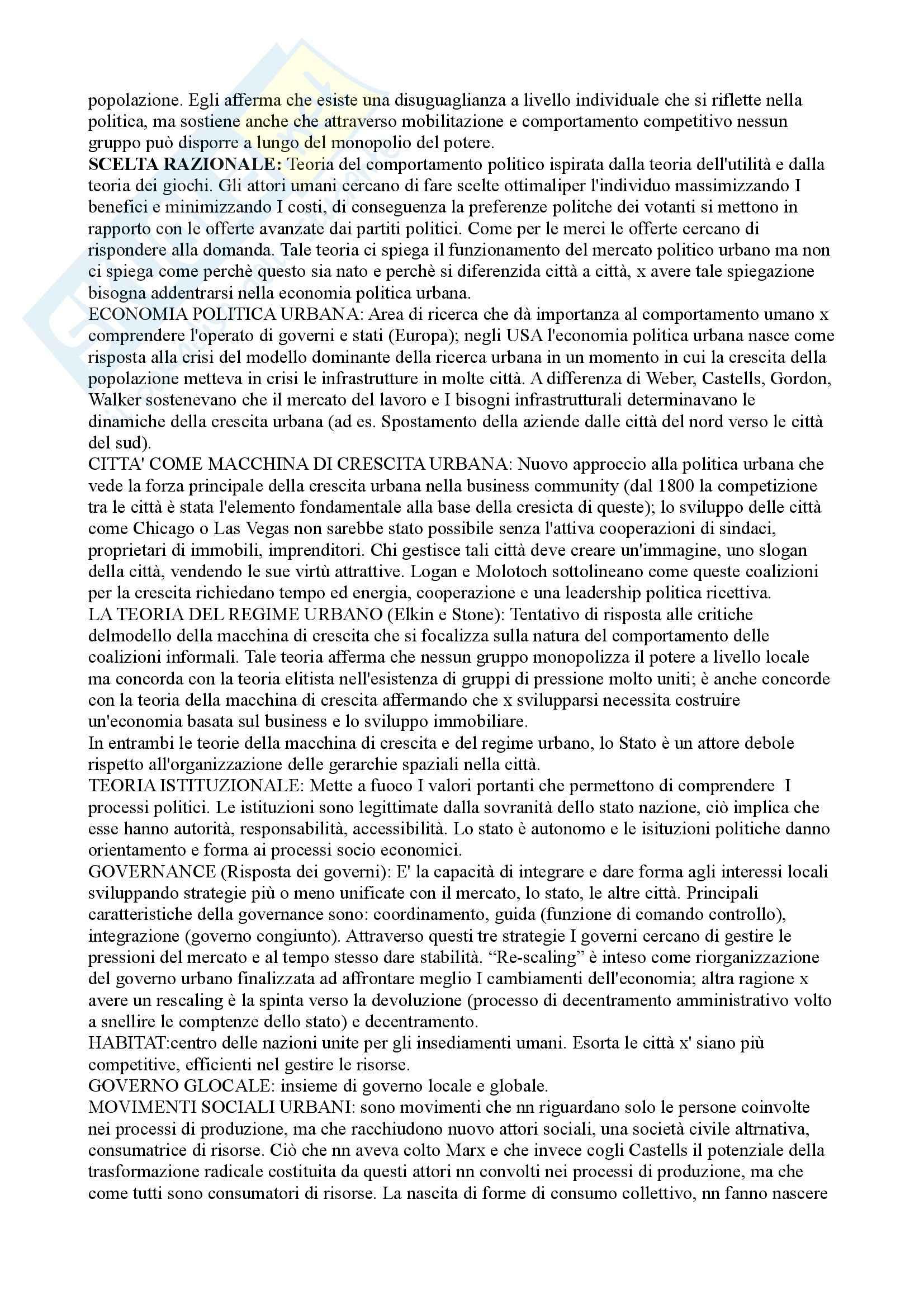 Riassunto esame Sociologia della città, prof. Montagnini, libro consigliato Teoria ed esperienza urbana, Park Pag. 11