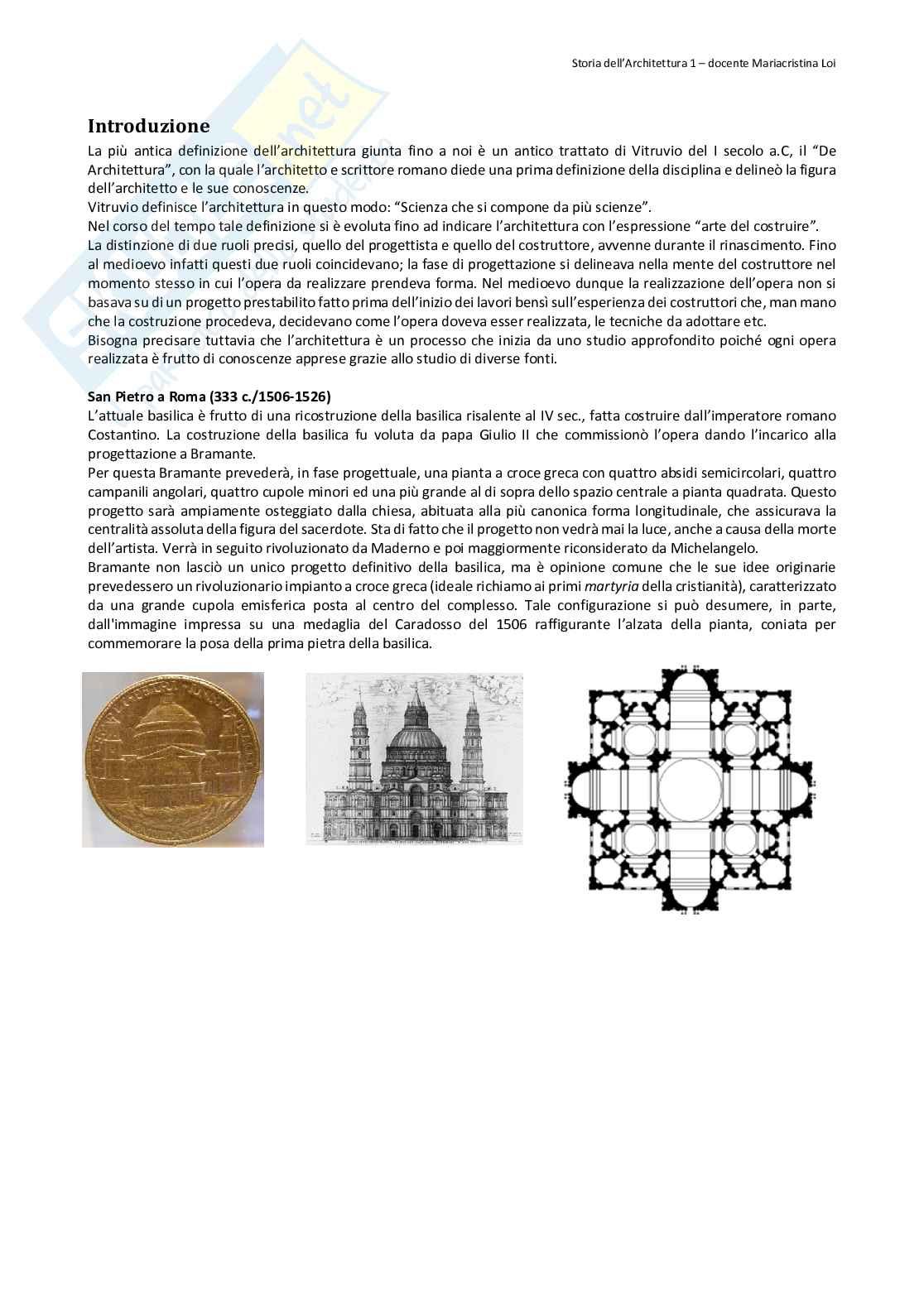 Appunti Storia dell'architettura 1