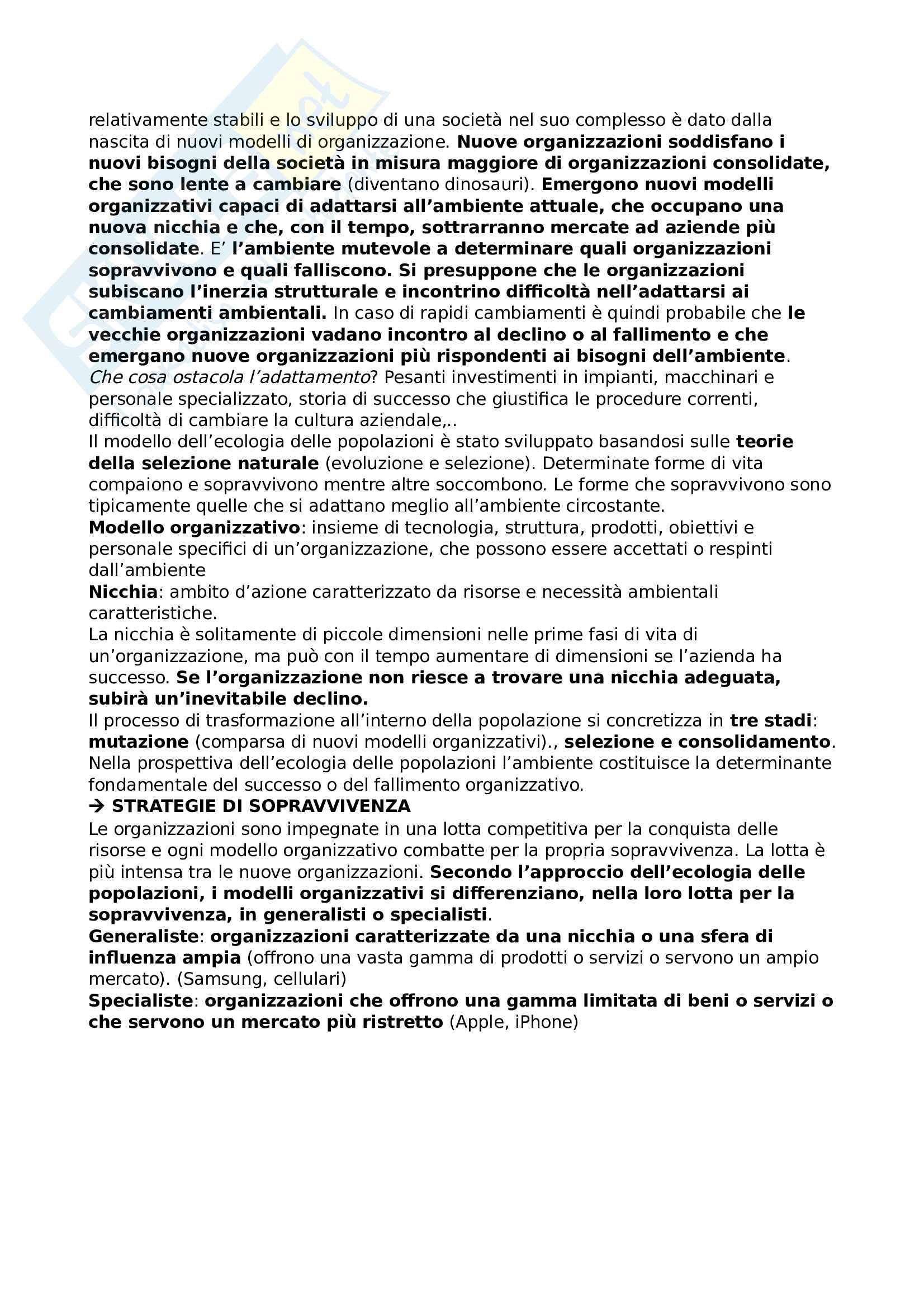 Riassunto esame Organizzazione aziendale Pag. 11