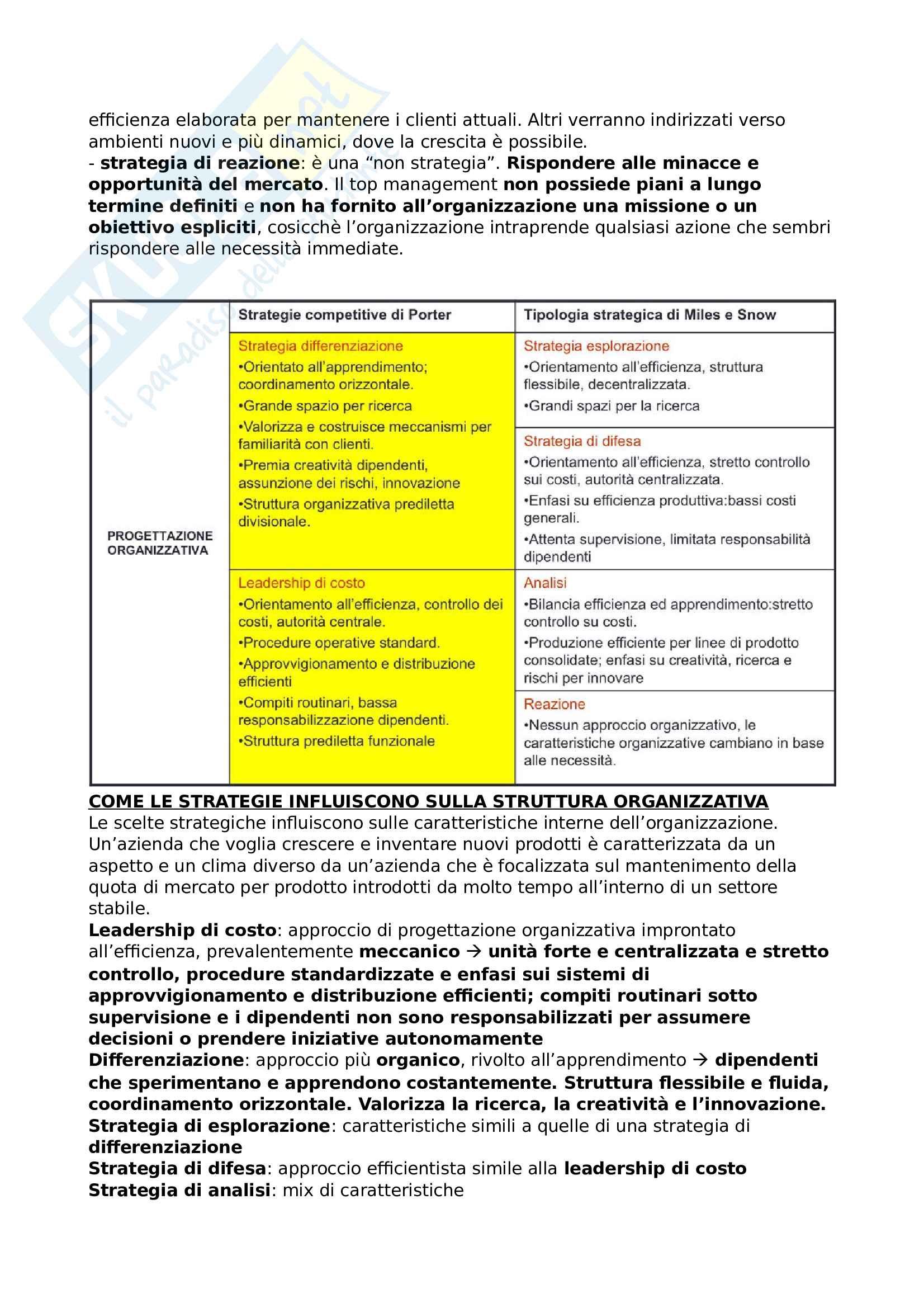 Riassunto esame Organizzazione aziendale Pag. 16