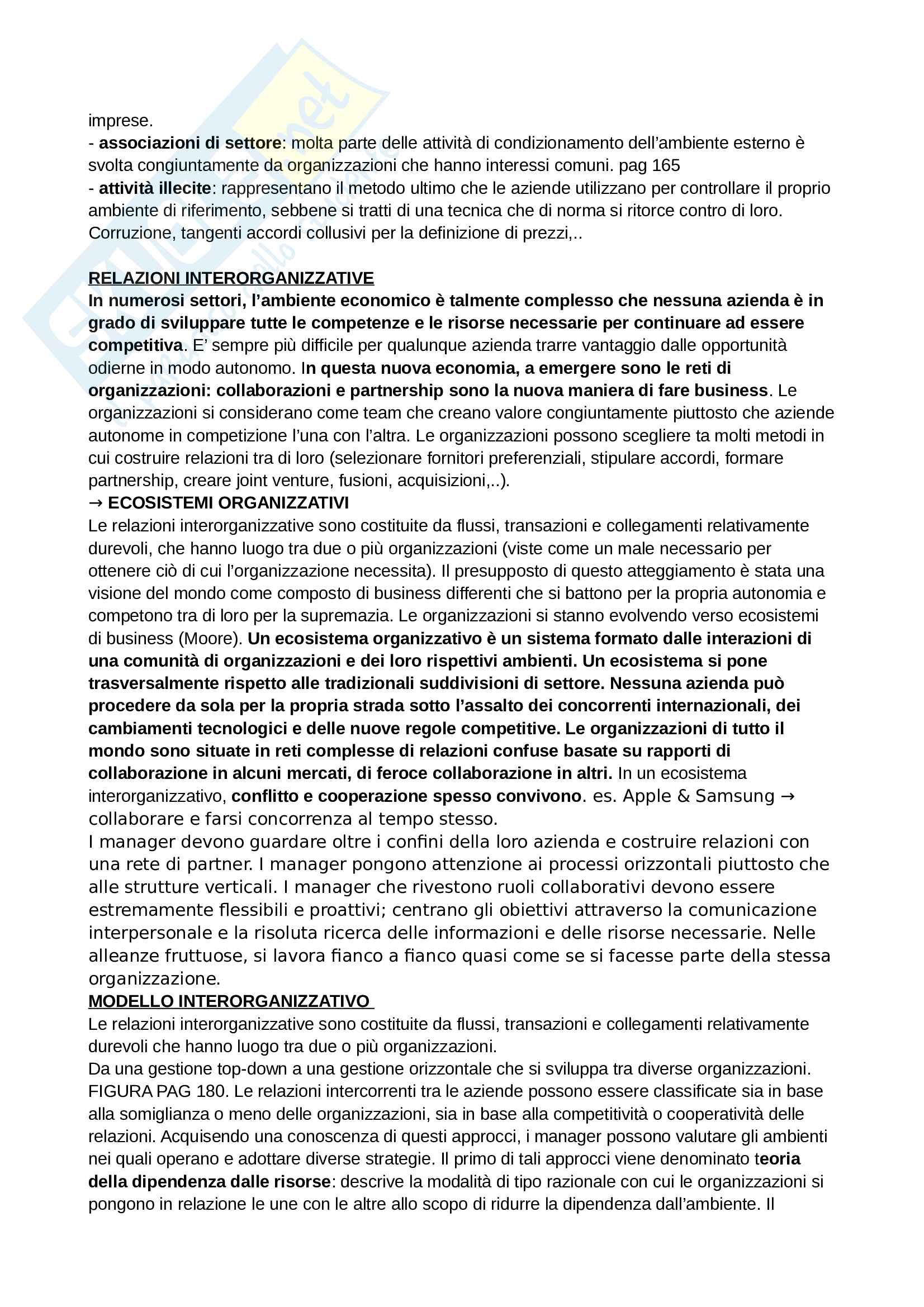 Riassunto esame Organizzazione aziendale Pag. 41