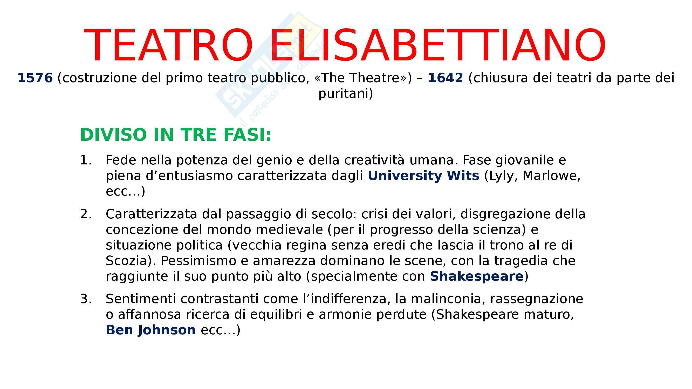 Teatro elisabettiano