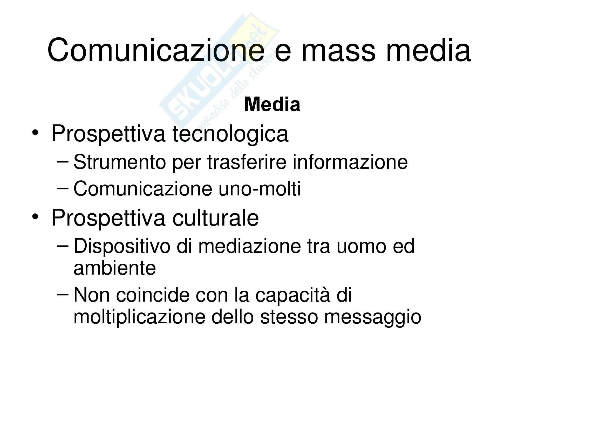 Psicopedagogia del linguaggio e della comunicazione – Comunicazione e mass media