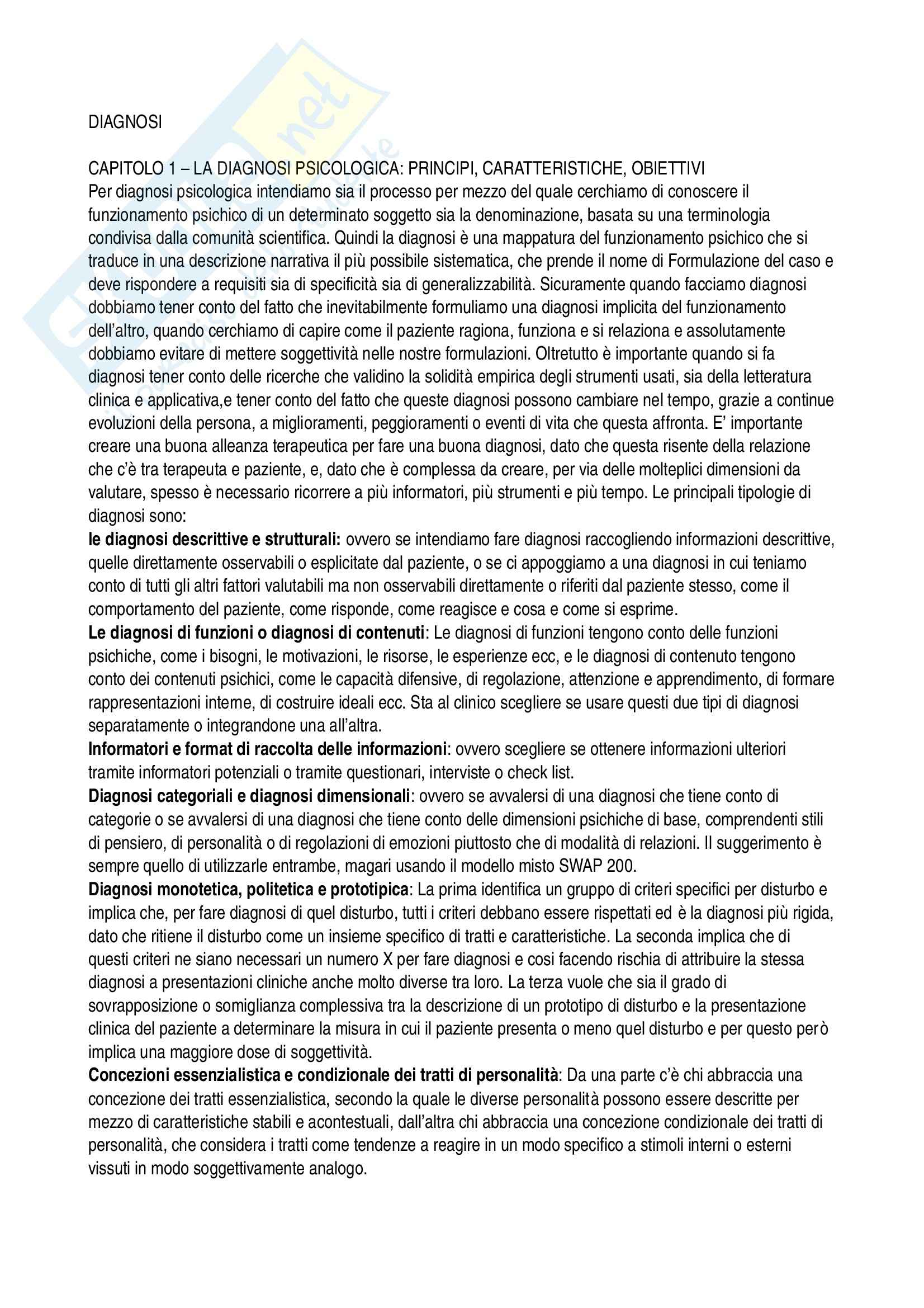 appunto C. Sica Psicologia clinica