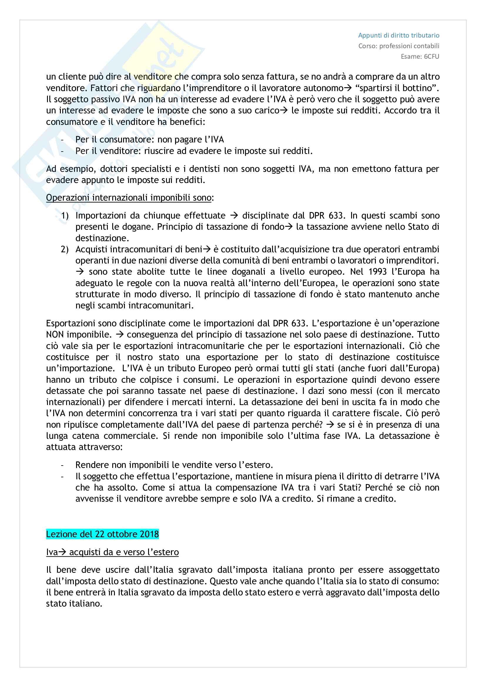 Diritto tributario - Appunti presi a lezione Pag. 11