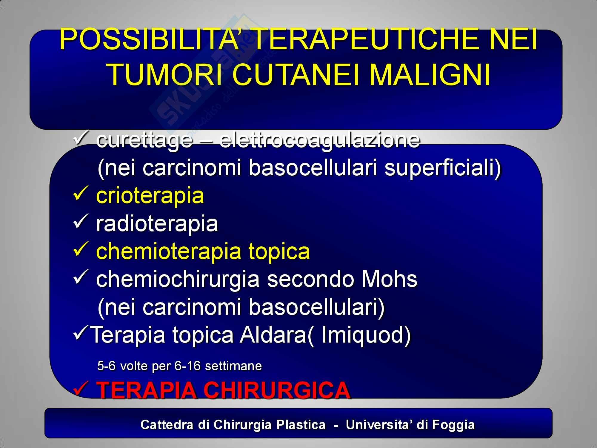 Chirurgia plastica - la terapia dei tumori cutanei Pag. 2