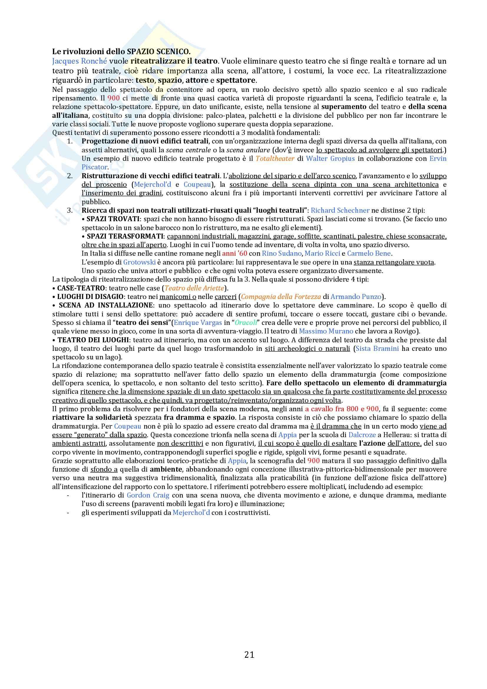Riassunto esame Storia del teatro e dello spettacolo, prof. De Marinis, libro consigliato Breve Storia del teatro per Immagini Pag. 21