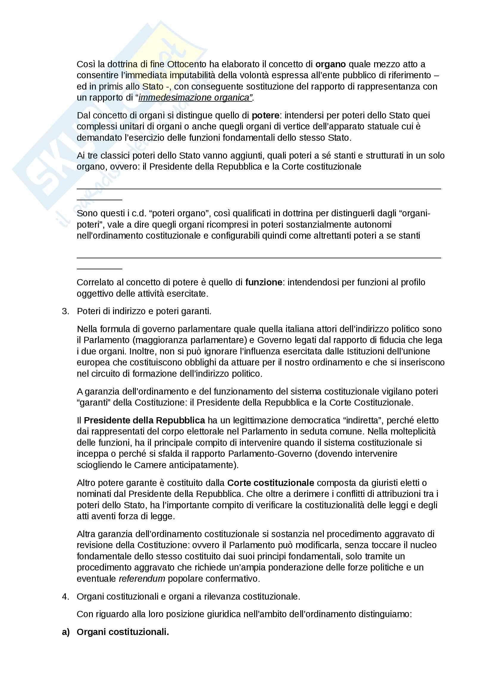Riassunto esame Diritto pubblico, prof. A. Papa - libro consigliato: L'ordinamento della Repubblica, Bilancia, De Marco Pag. 46