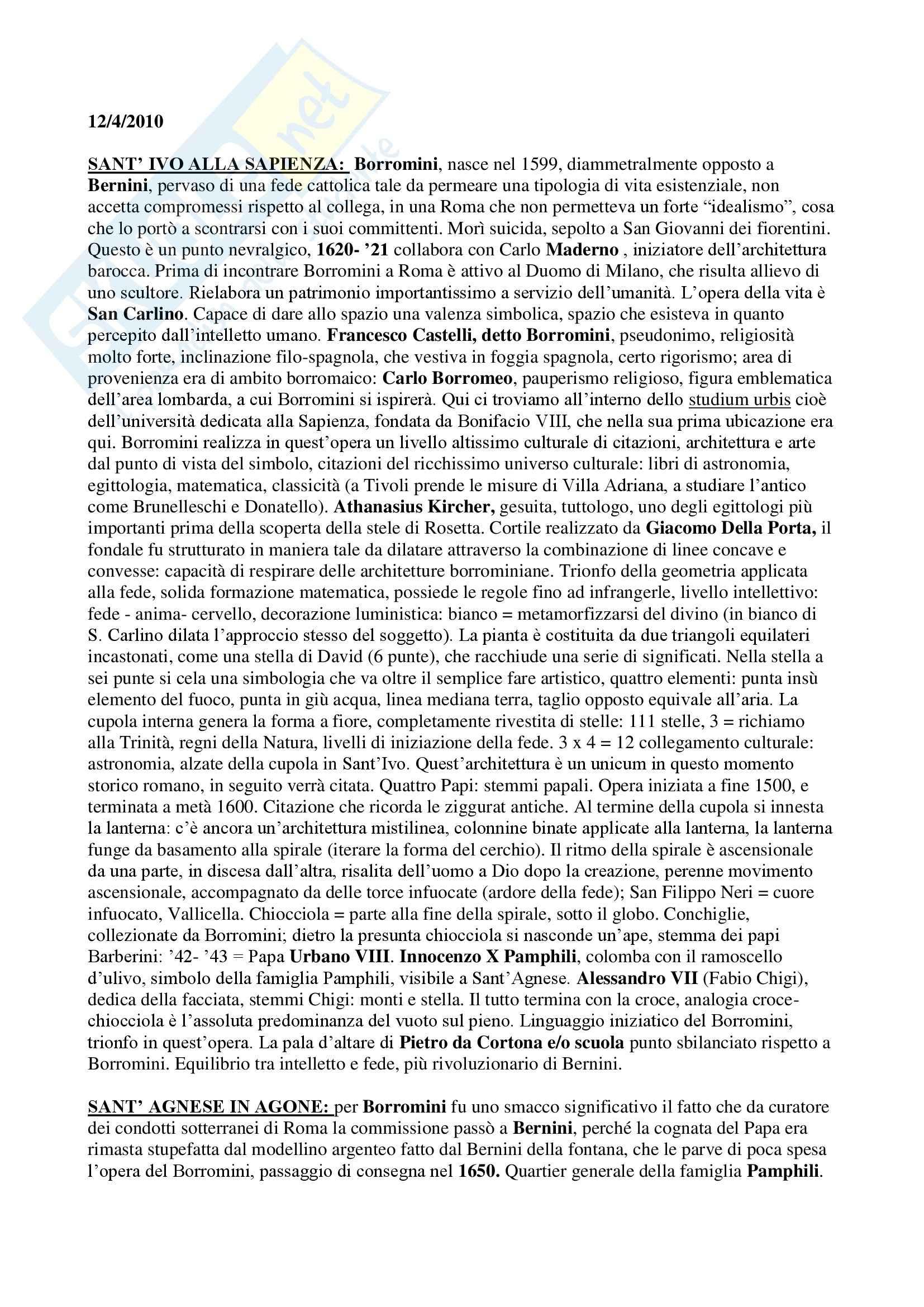 appunto S. Macioce Fondamenti di Storia dell'arte moderna II