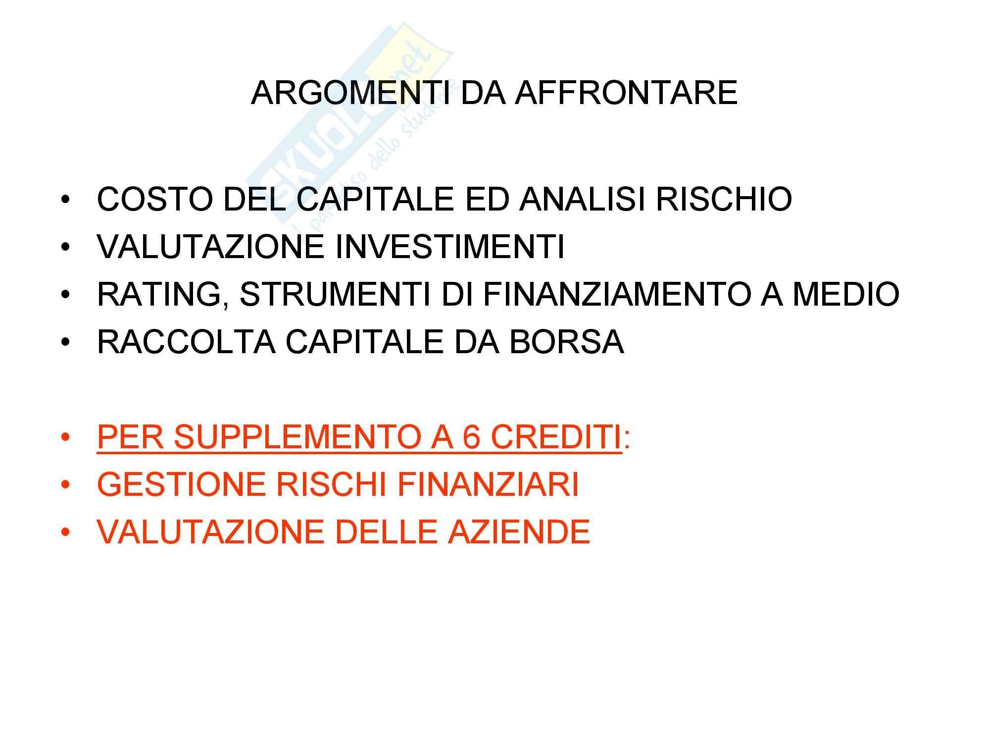 Finanza aziendale Pag. 2