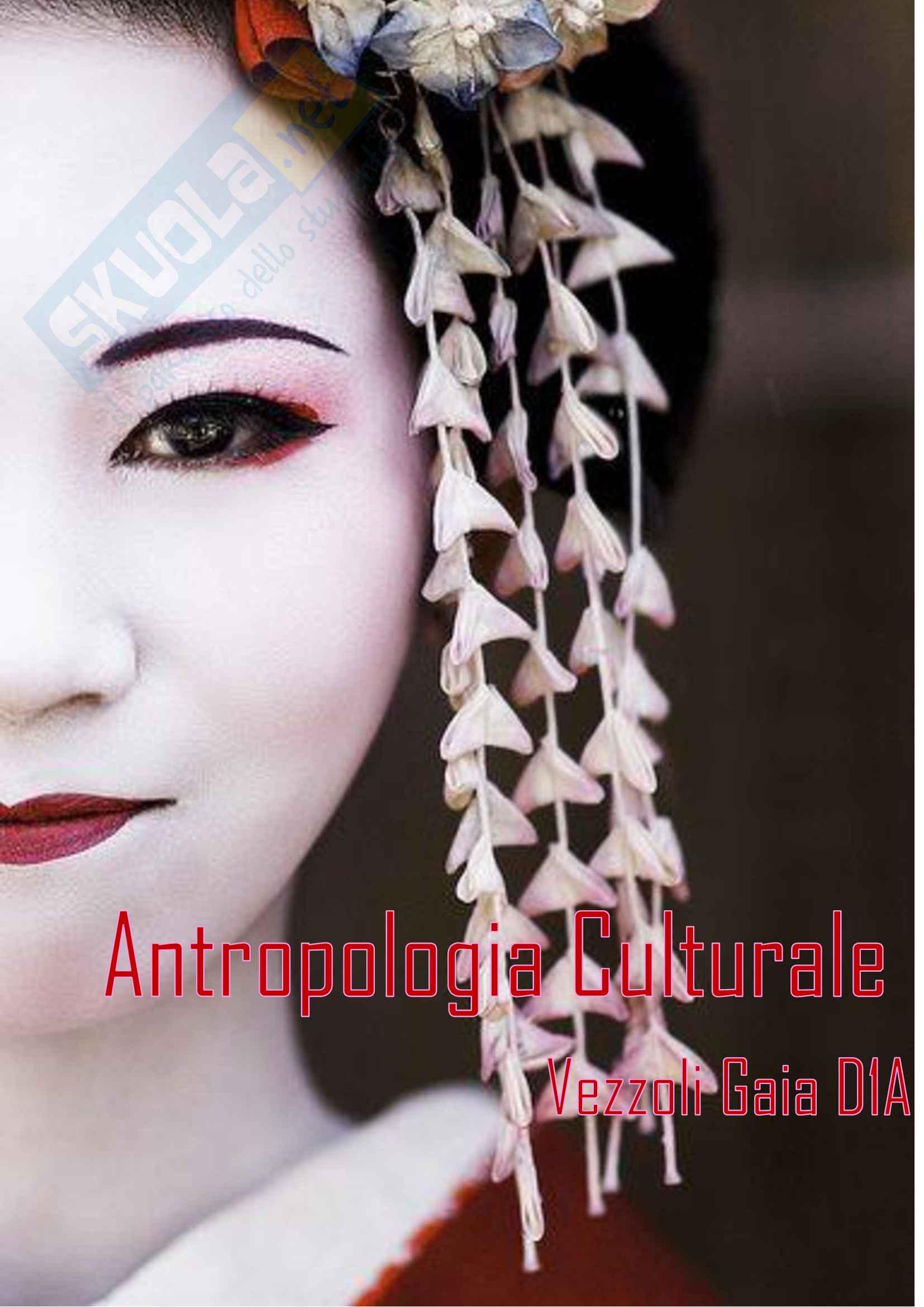 Antropologia culturale: appunti