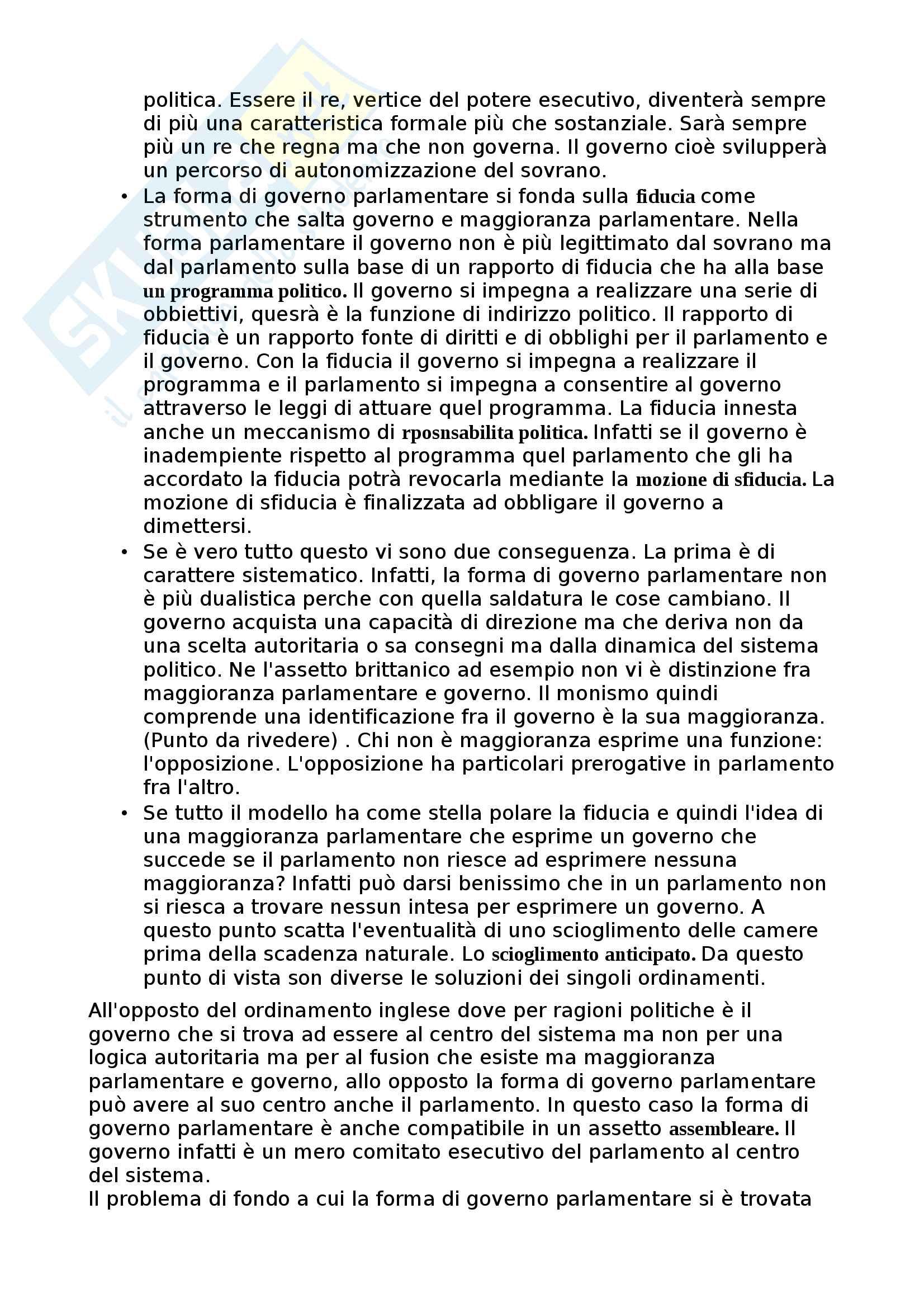 Forme di Stato e forme di Governo Pag. 16
