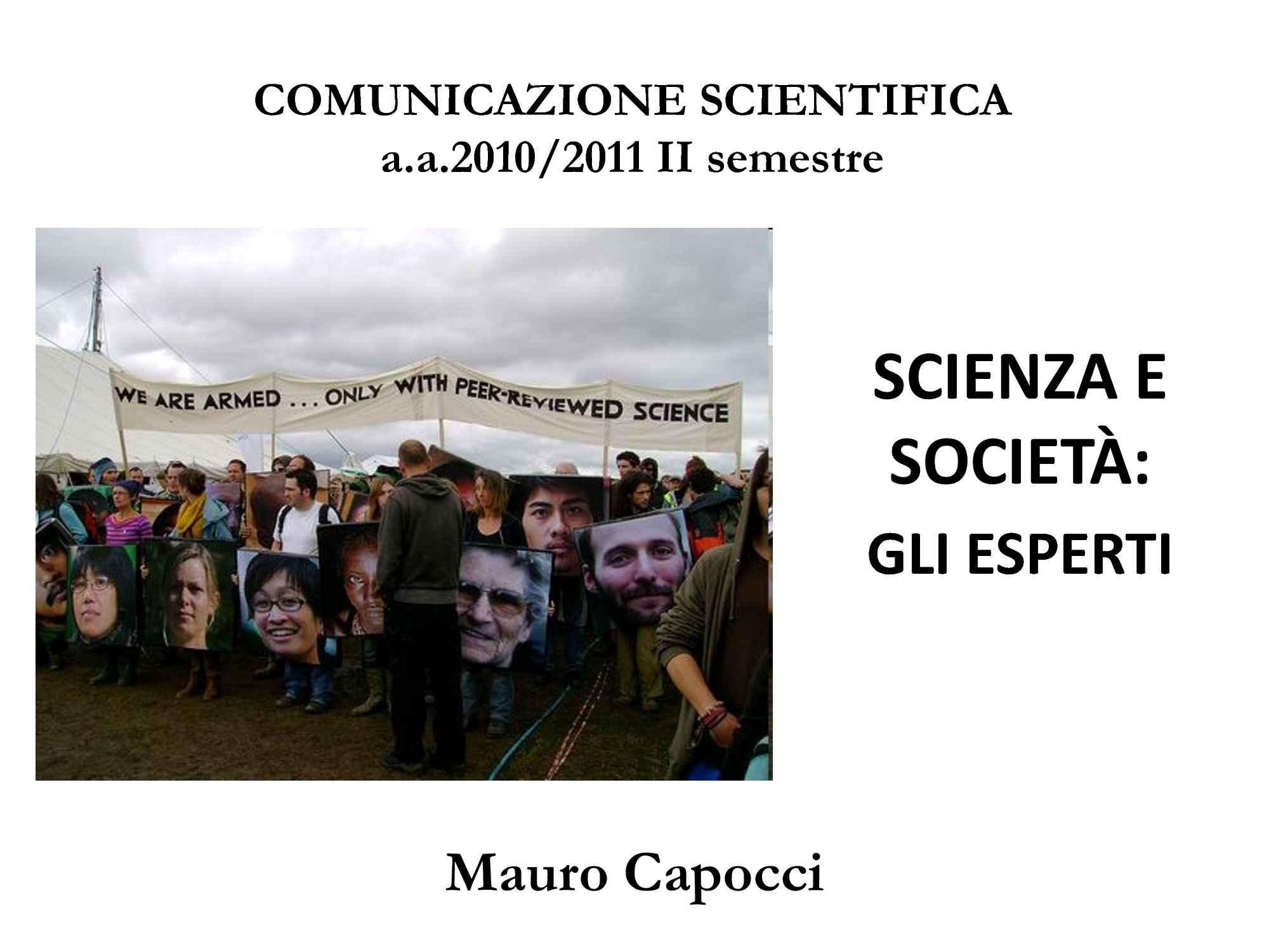 Scienza e società - Leggi scientifiche