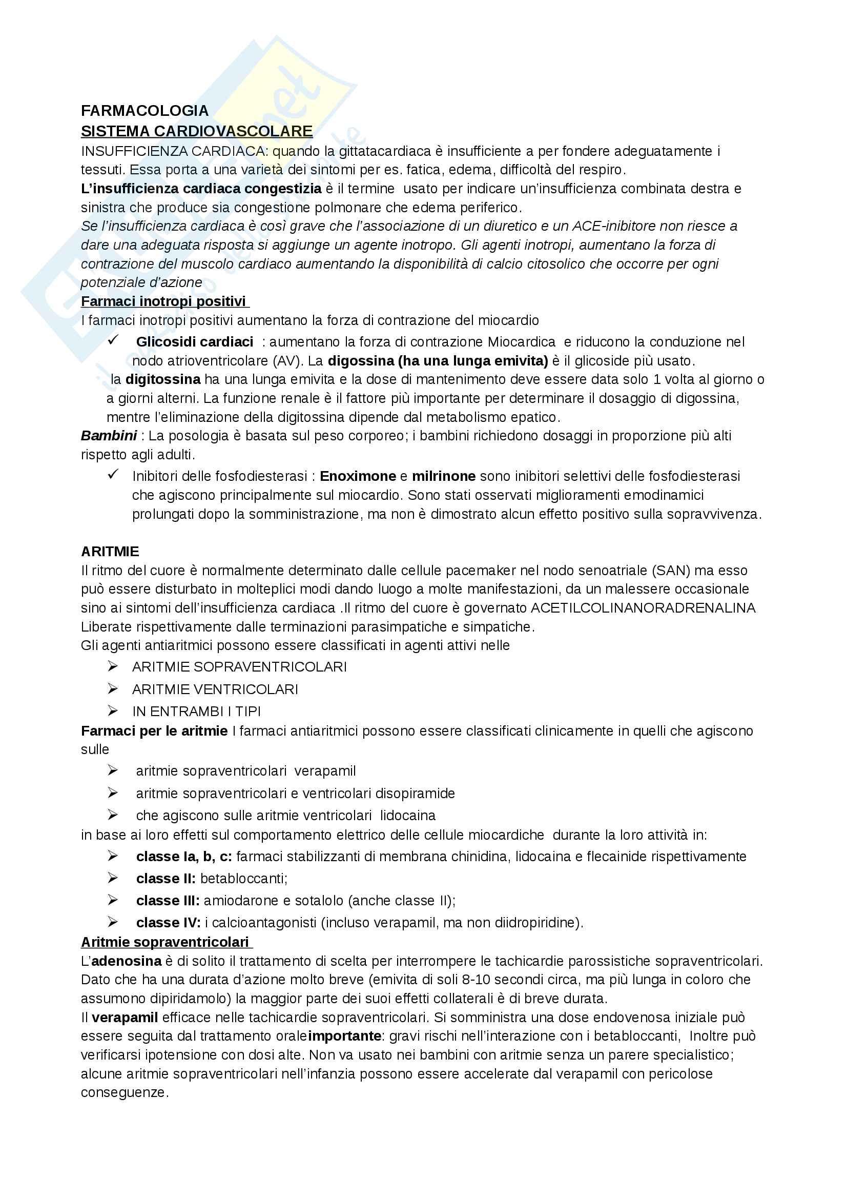 appunto M. Perazzi Infermieristica clinica in area critica