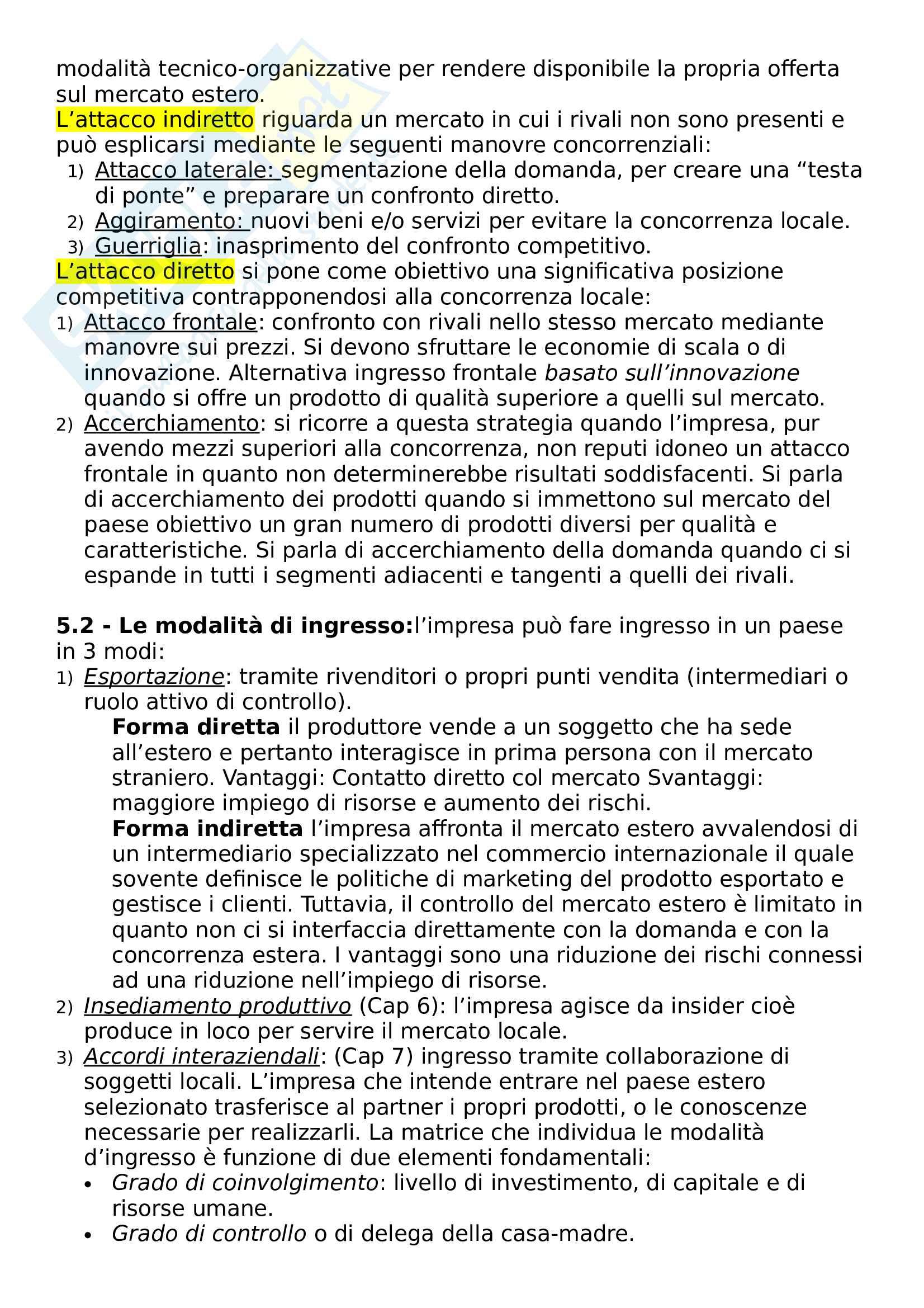 Riassunto esame Marketing e Comunicazione, prof. Bertoli, libro consigliato Mercati internazionali e marketing Pag. 16