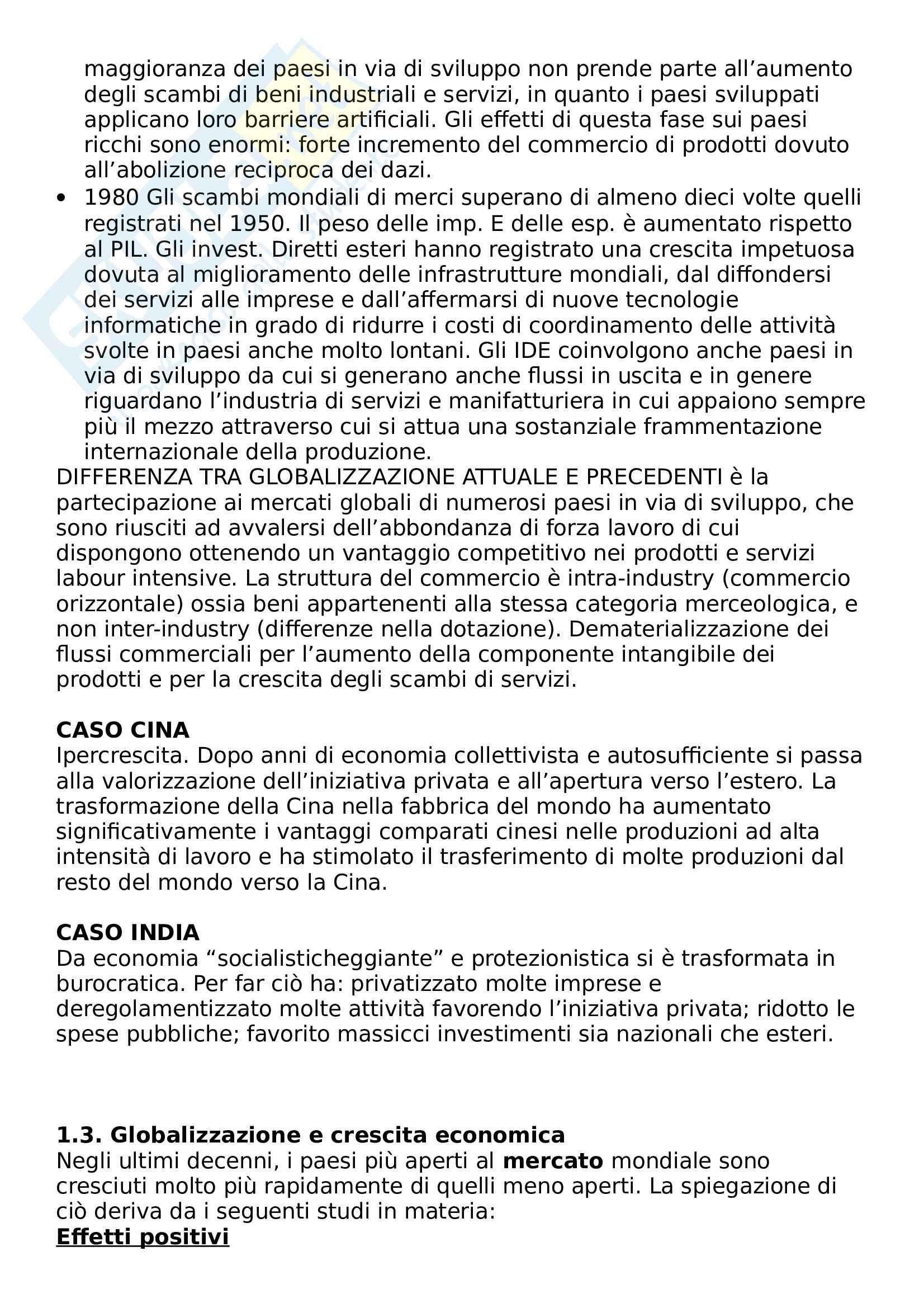 Riassunto esame Marketing e Comunicazione, prof. Bertoli, libro consigliato Mercati internazionali e marketing Pag. 2