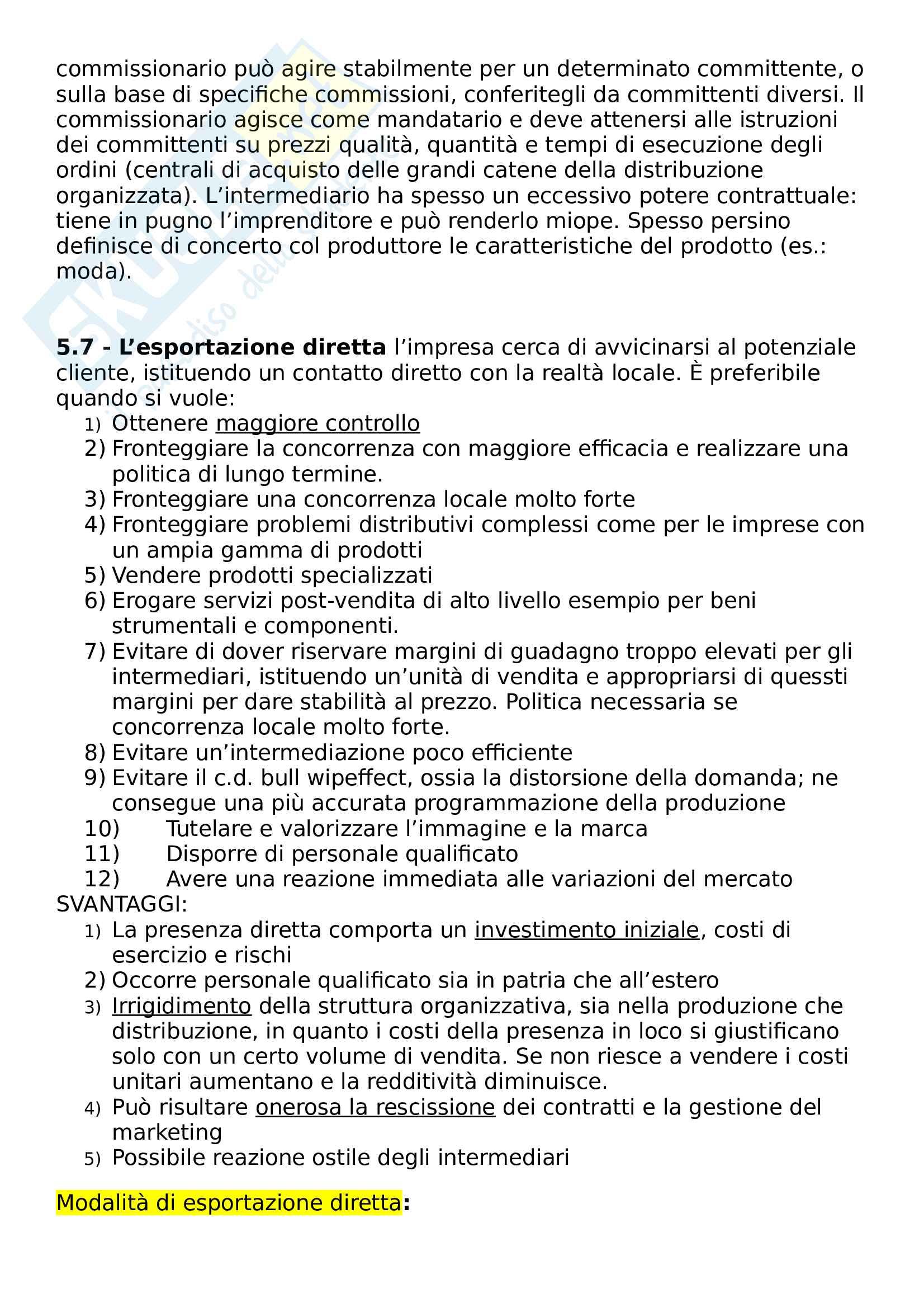 Riassunto esame Marketing e Comunicazione, prof. Bertoli, libro consigliato Mercati internazionali e marketing Pag. 21