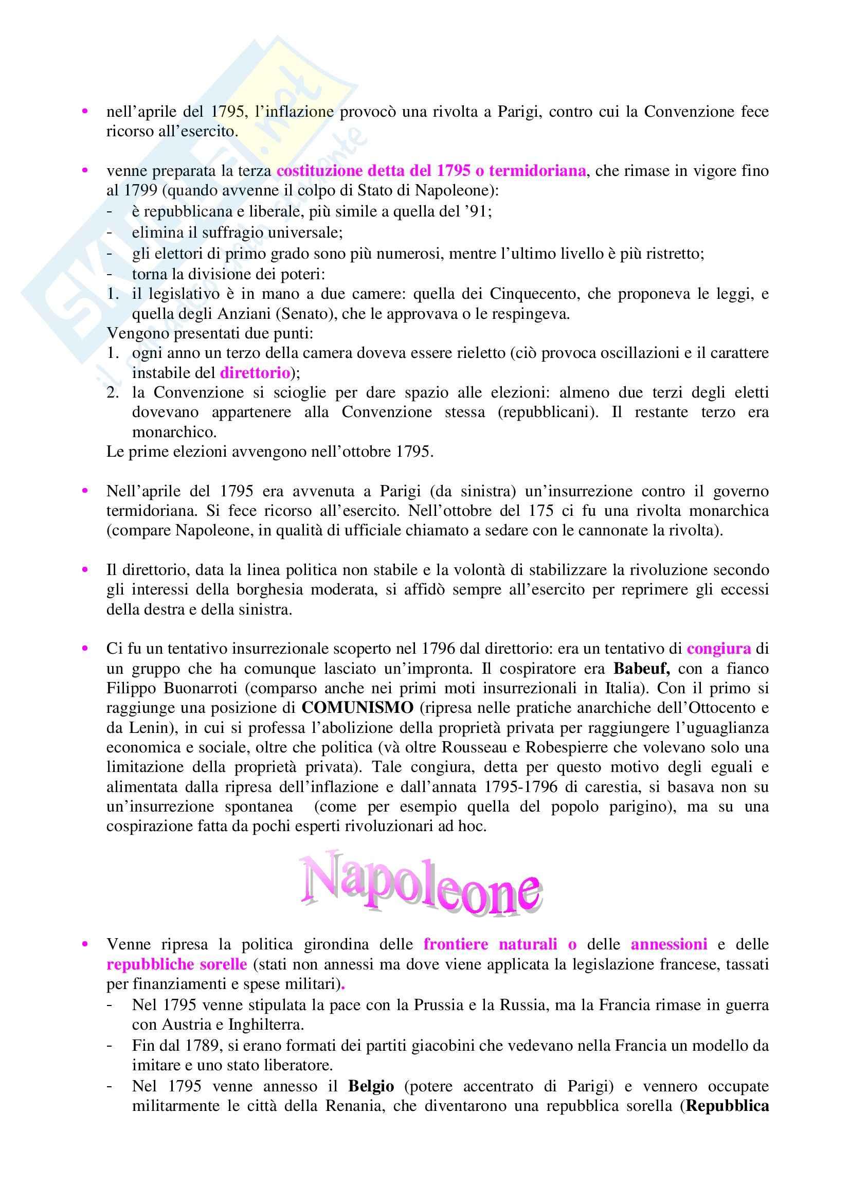Storia contemporanea - Rivoluzione francese e Impero napoleonico Pag. 11