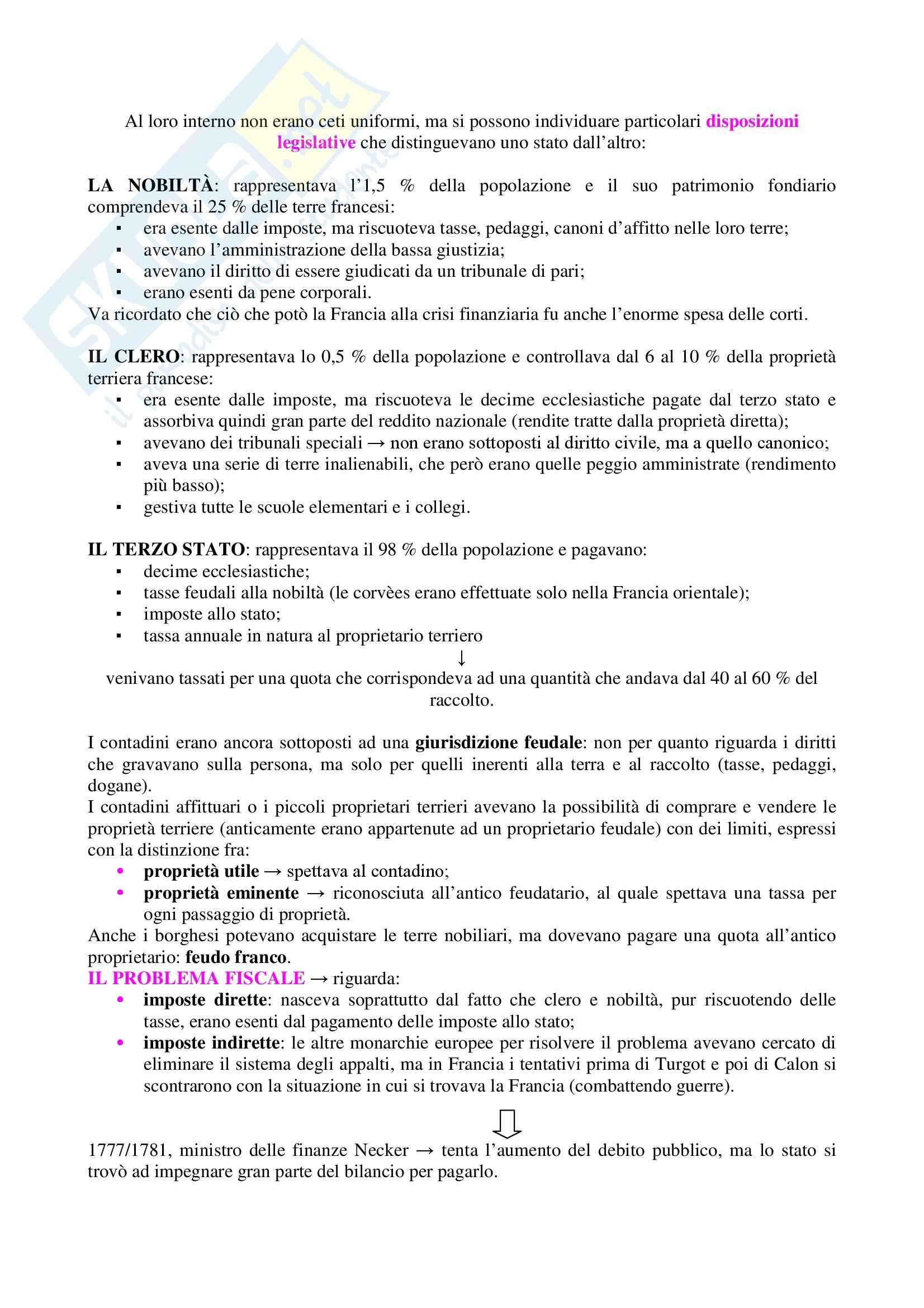 Storia contemporanea - Rivoluzione francese e Impero napoleonico Pag. 2