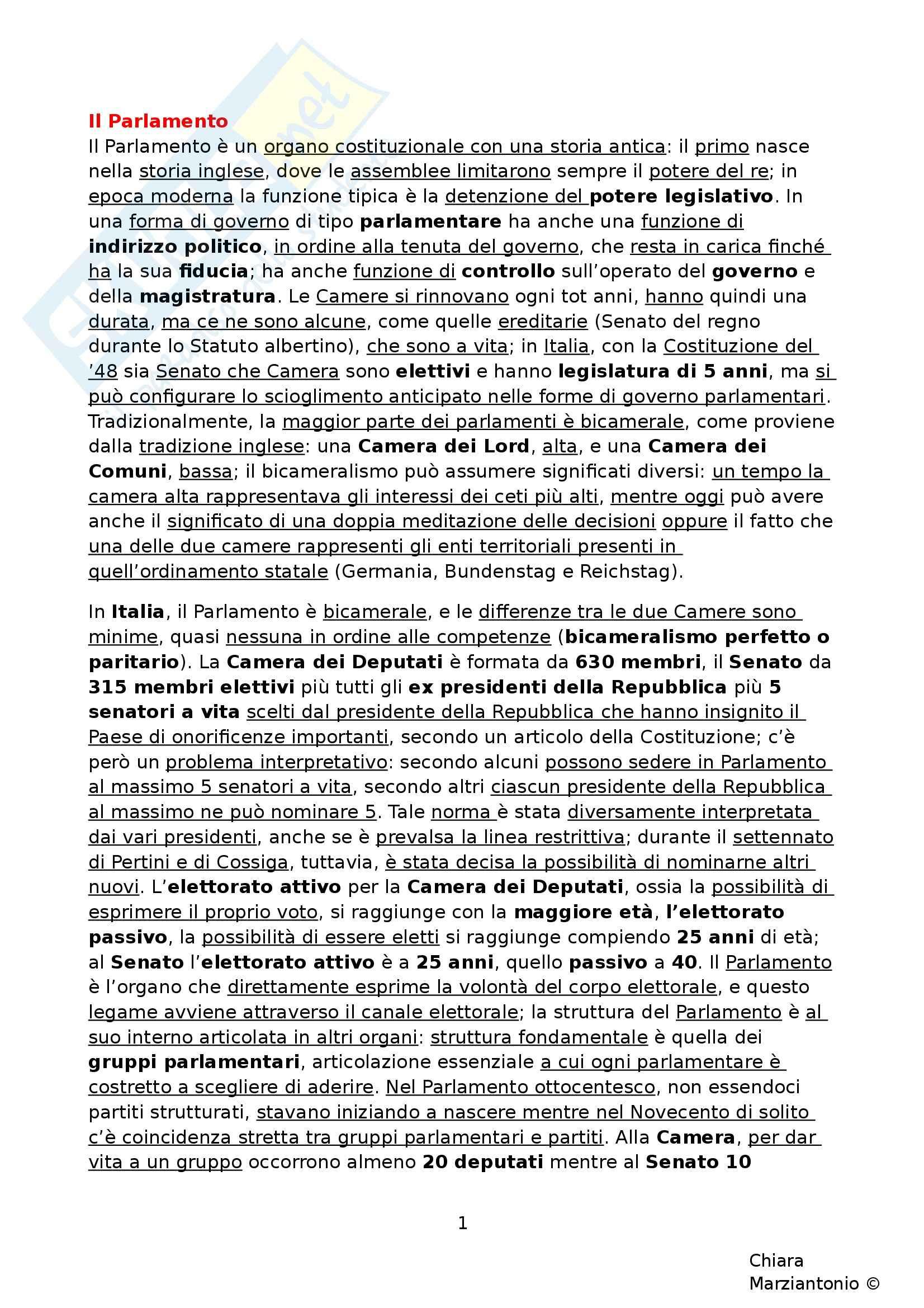 Riassunto esame Istituzioni di Diritto Pubblico, prof. Corsi, libro consigliato Corso di Diritto Pubblico, Barbera, Fusaro - cap. 9