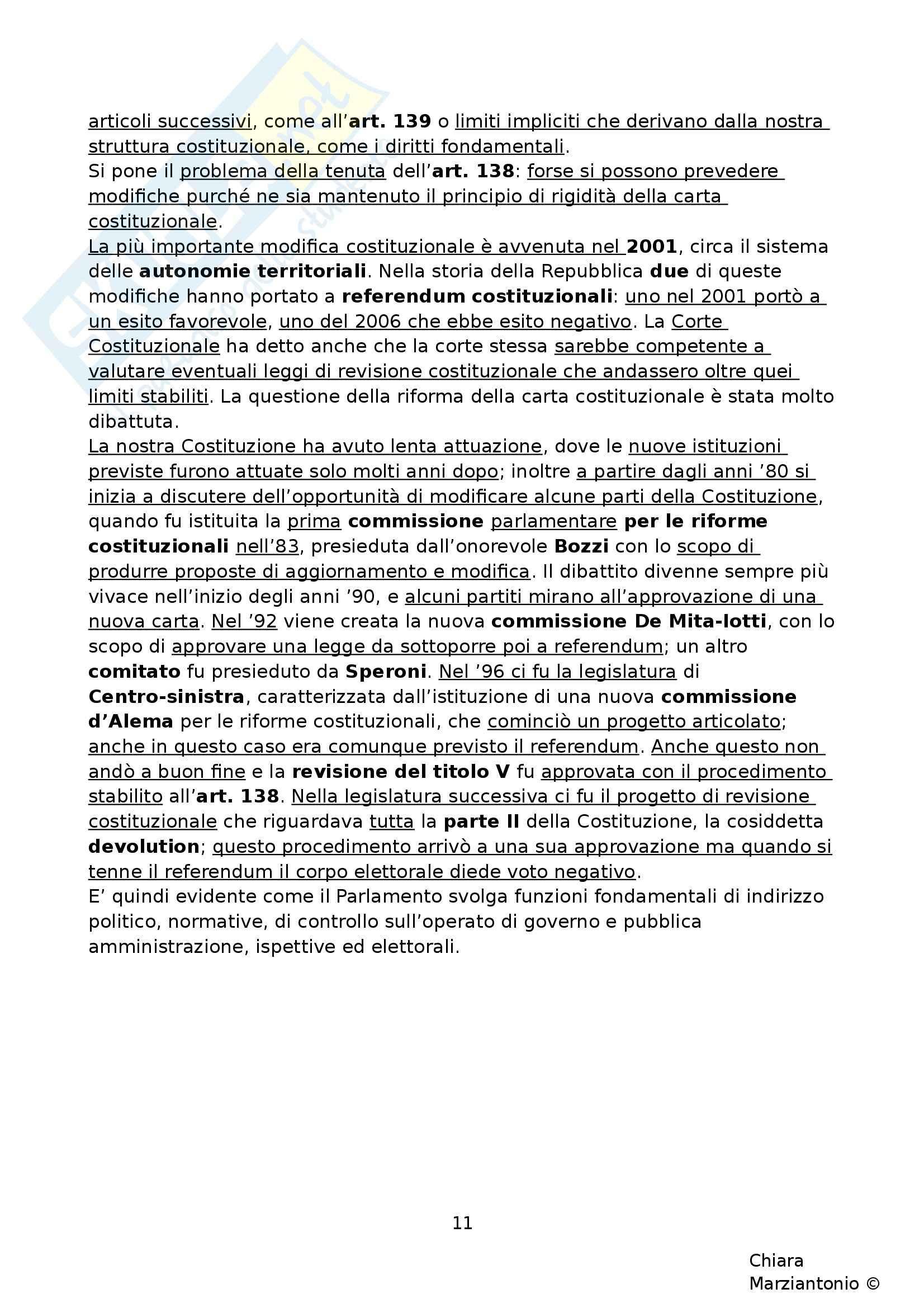Riassunto esame Istituzioni di Diritto Pubblico, prof. Corsi, libro consigliato Corso di Diritto Pubblico, Barbera, Fusaro - cap. 9 Pag. 11