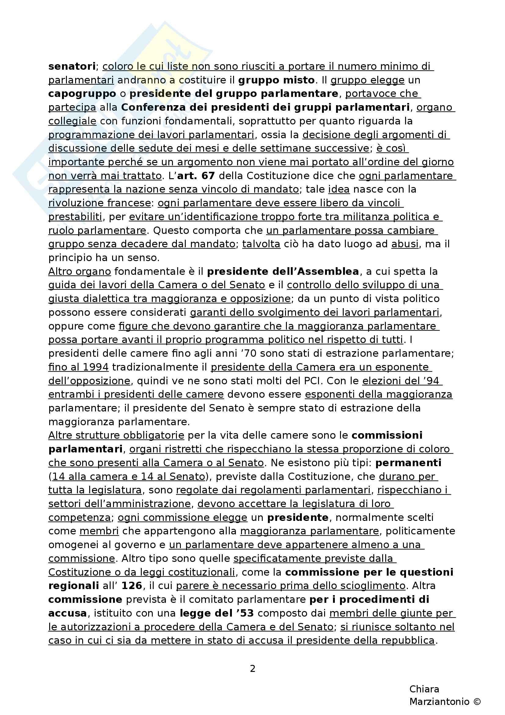 Riassunto esame Istituzioni di Diritto Pubblico, prof. Corsi, libro consigliato Corso di Diritto Pubblico, Barbera, Fusaro - cap. 9 Pag. 2