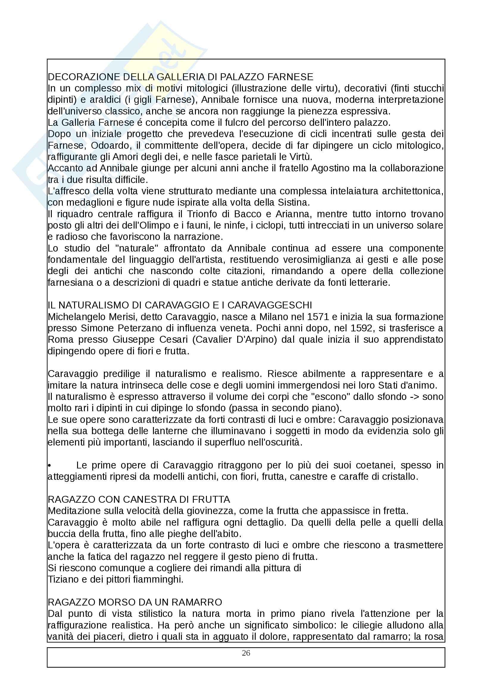 2^ Parte esame Storia dell'arte - Dal Cinquecento in poi Pag. 26