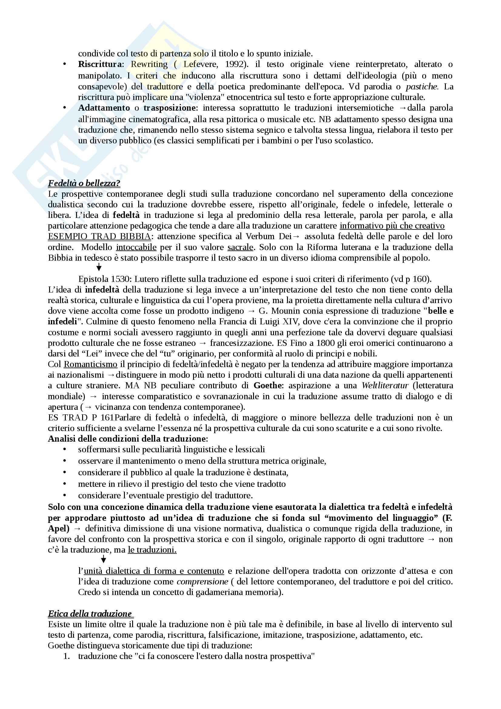 Riassunto esame Letteratura comparata, prof Sinopoli, libro consigliato Letteratura comparata, Gnisci Pag. 36