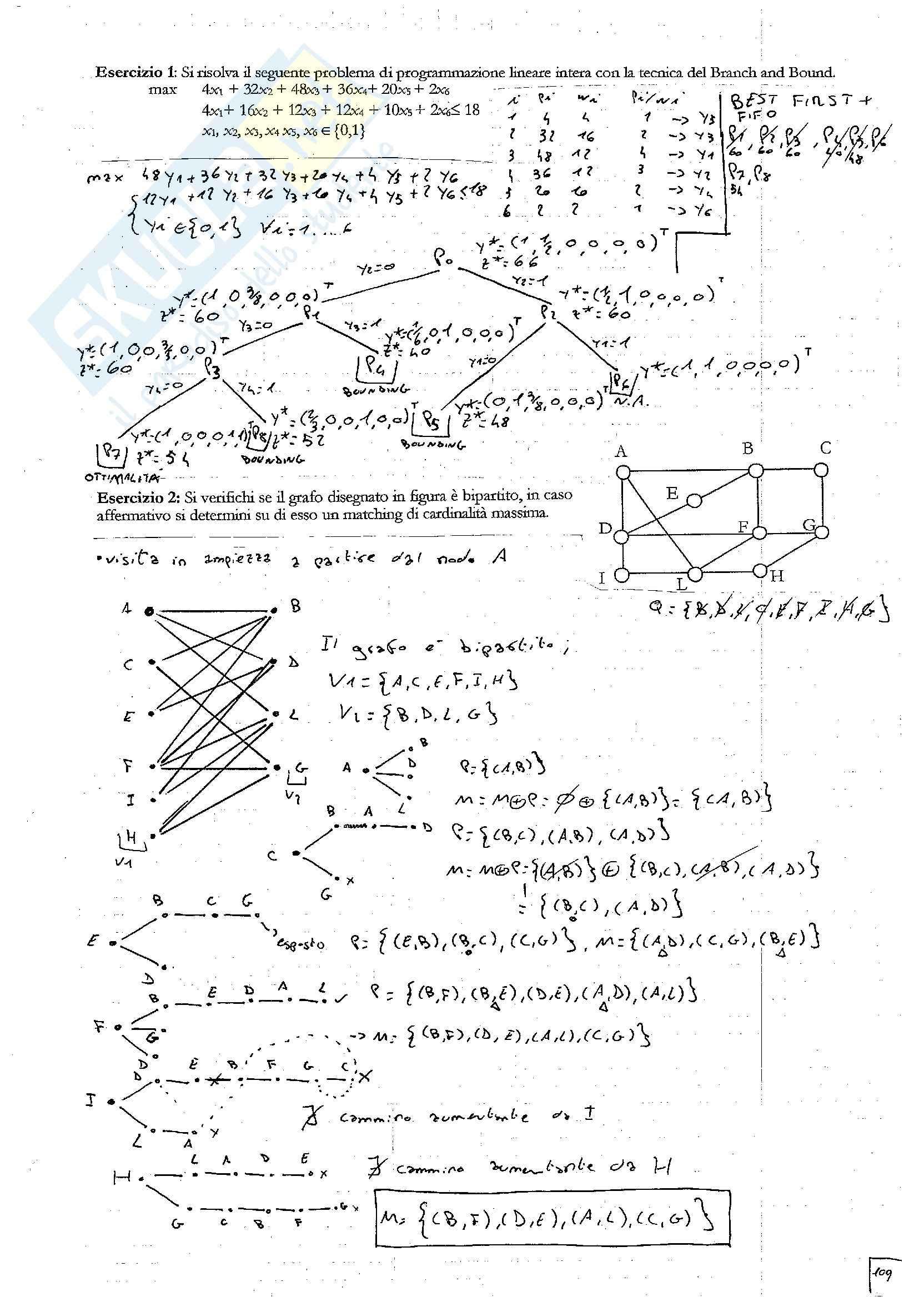 Ricerca Operativa - Esercizi d'esame Pag. 2