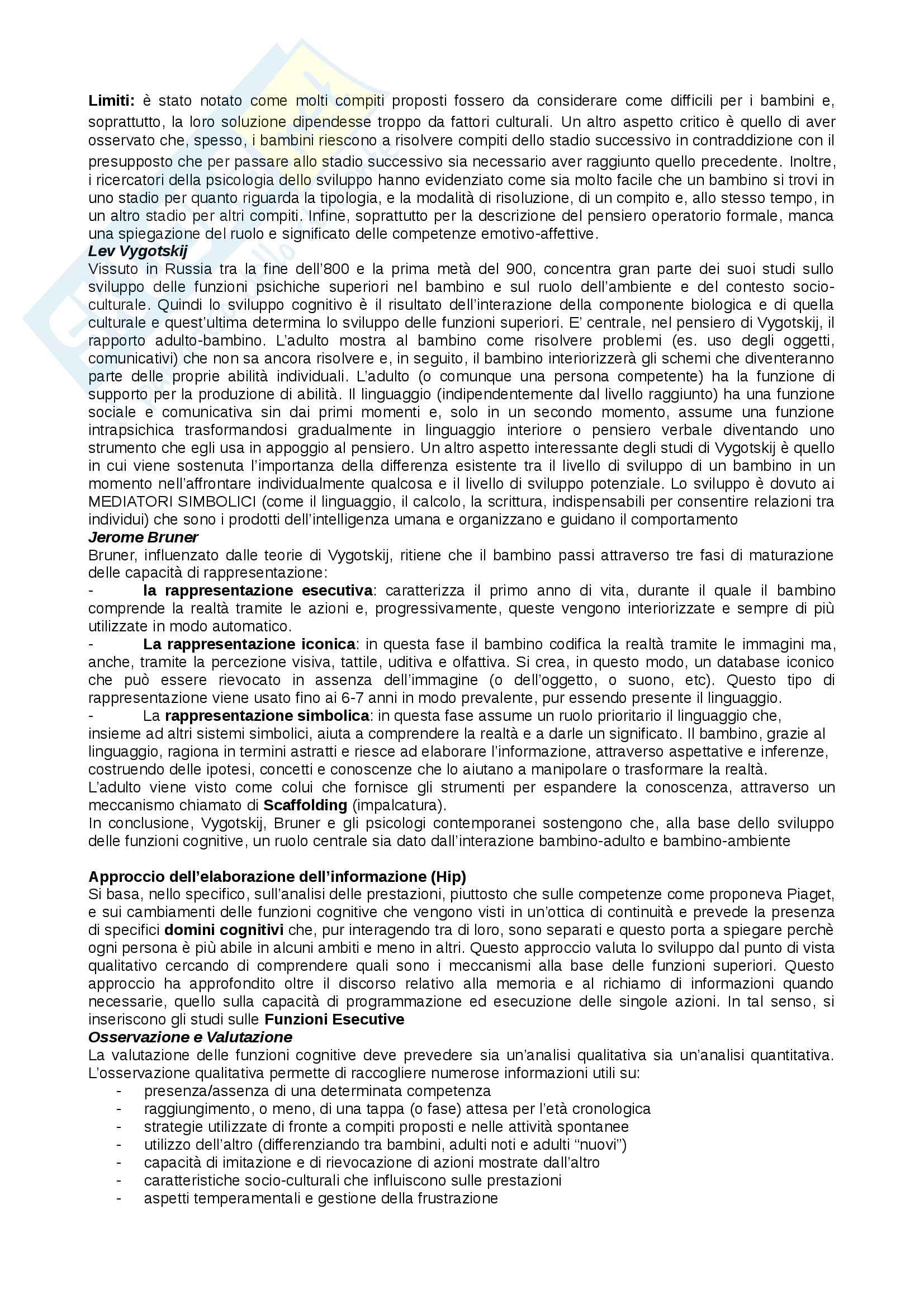 Riassunto psicologia dello sviluppo Pag. 11