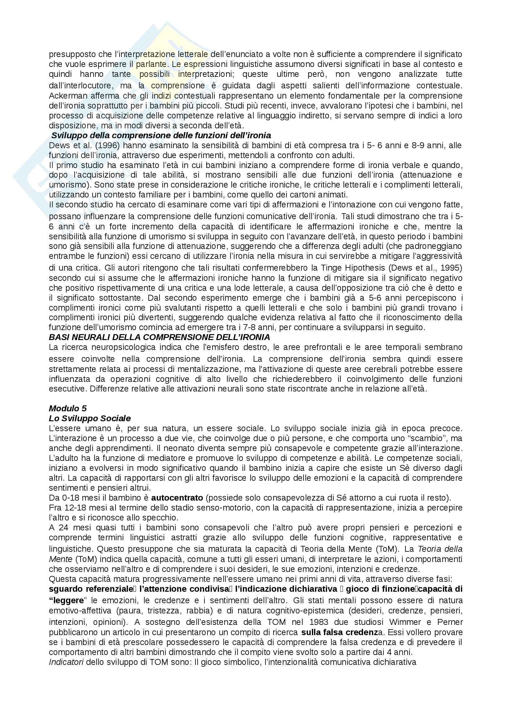 Riassunto psicologia dello sviluppo Pag. 16